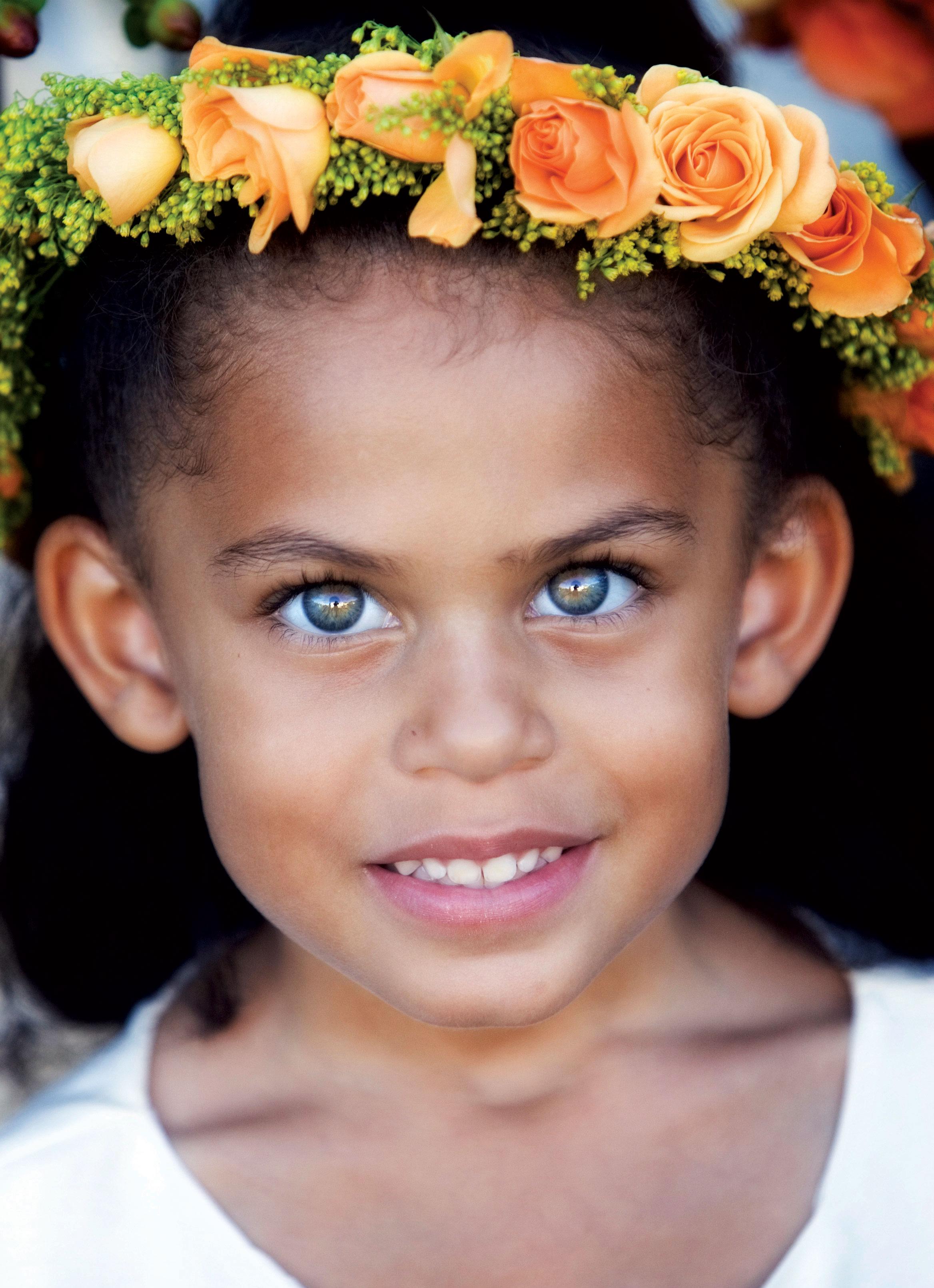 orange flower crown