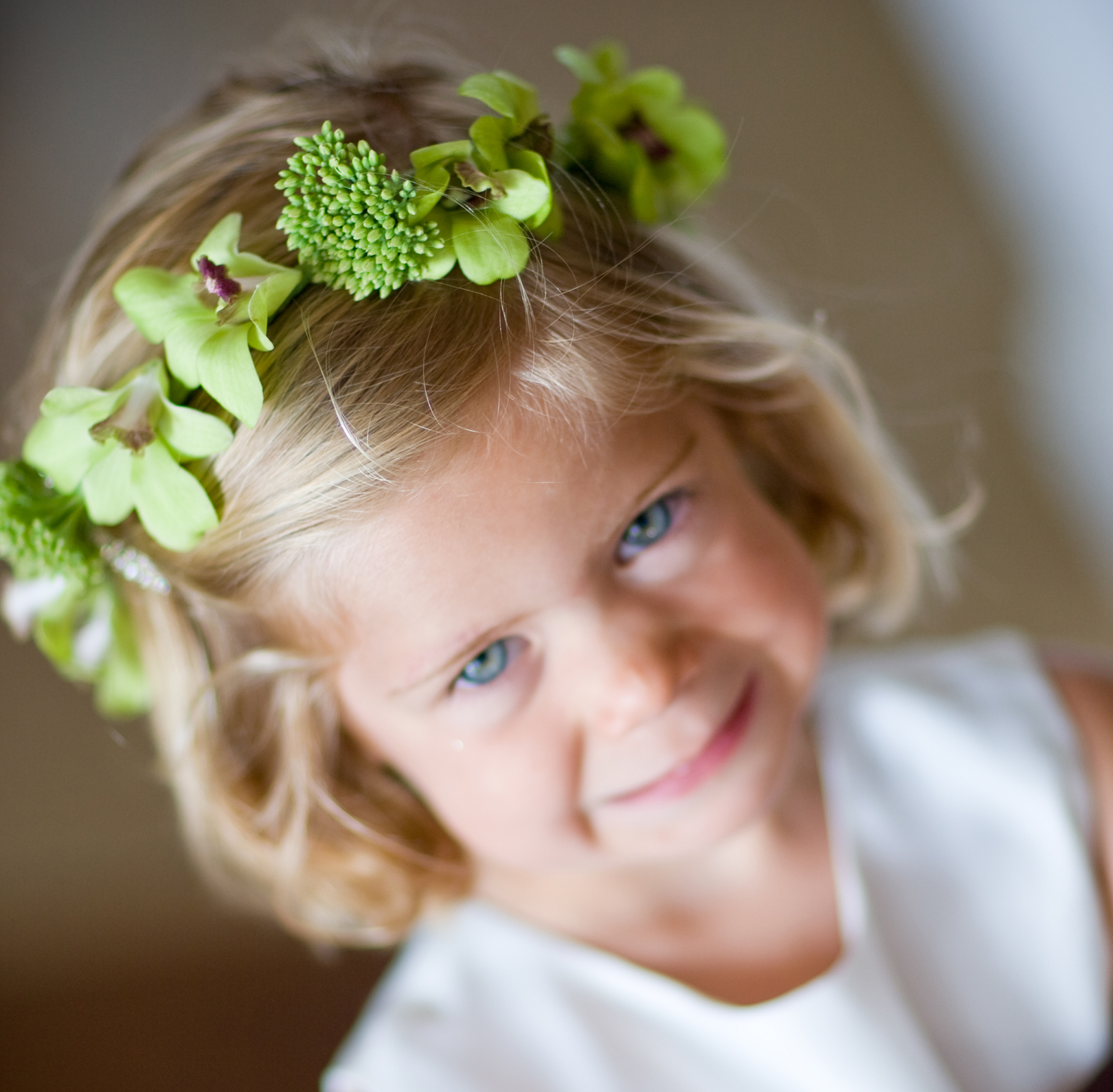 Flower girl style 15 flower crowns to complete her look inside green flower crown izmirmasajfo