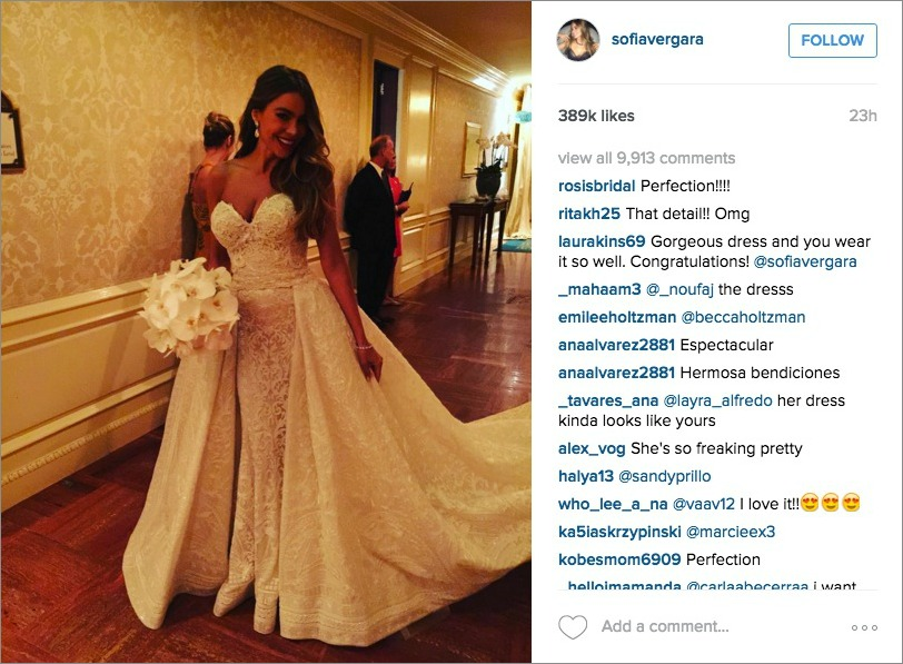 Sofia Vergara Wedding.Sofia Vergara Wedding Gown Get The Look Inside Weddings