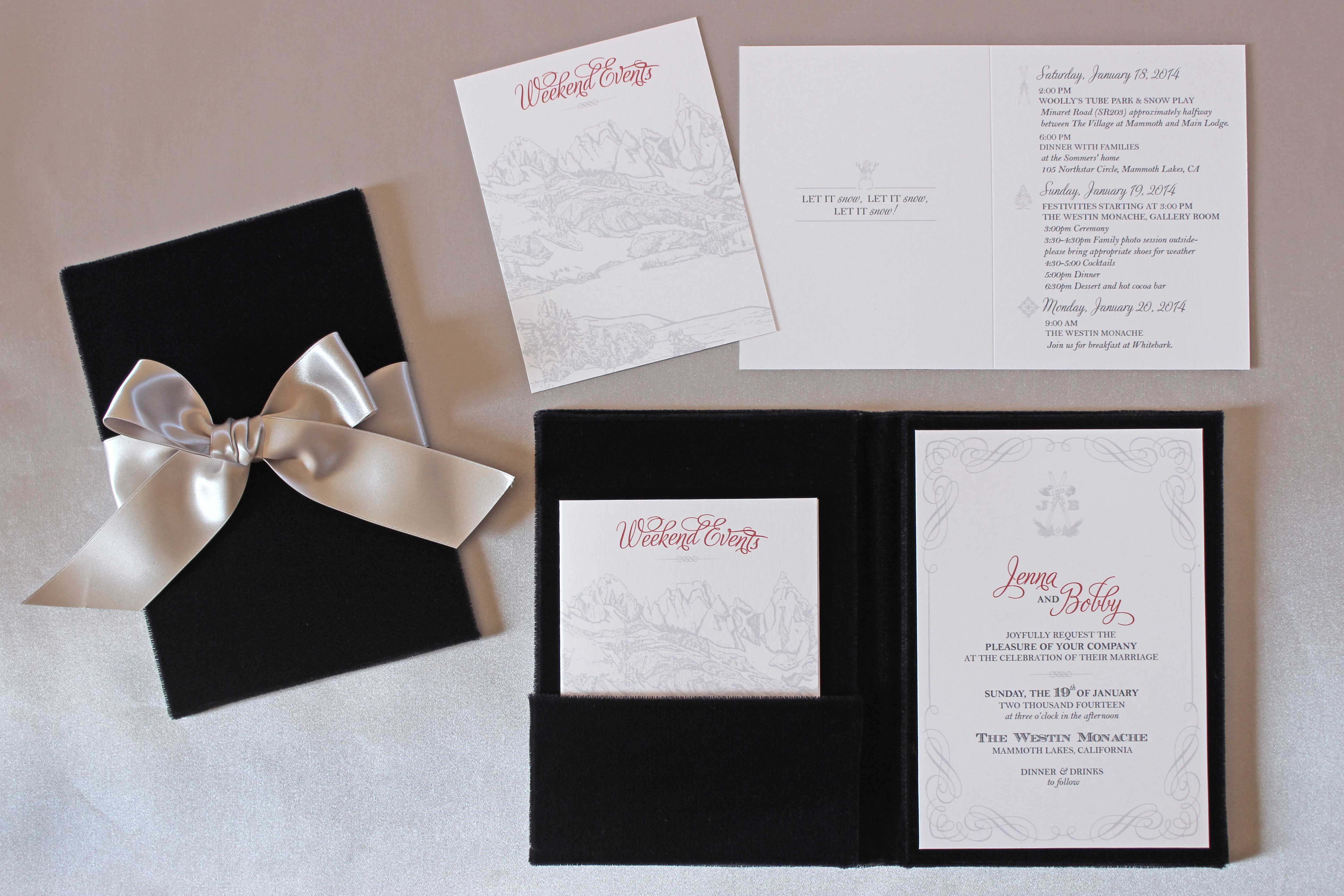 winter wedding ideas: winter wedding invitations - inside weddings, Wedding invitations