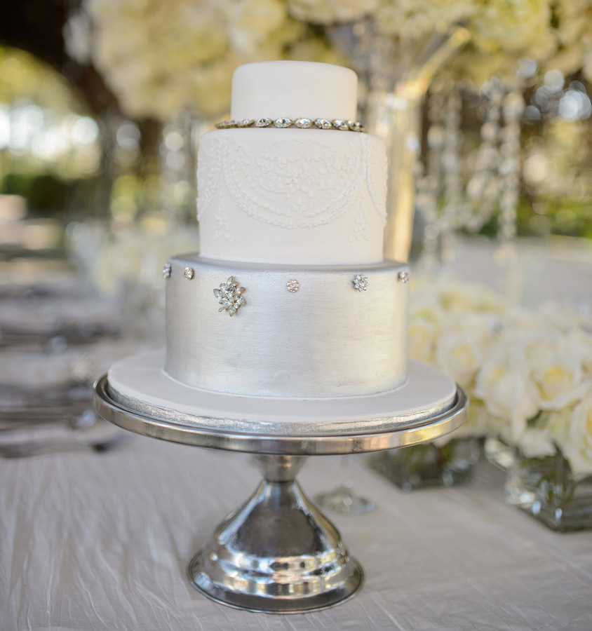 Small winter wedding cake