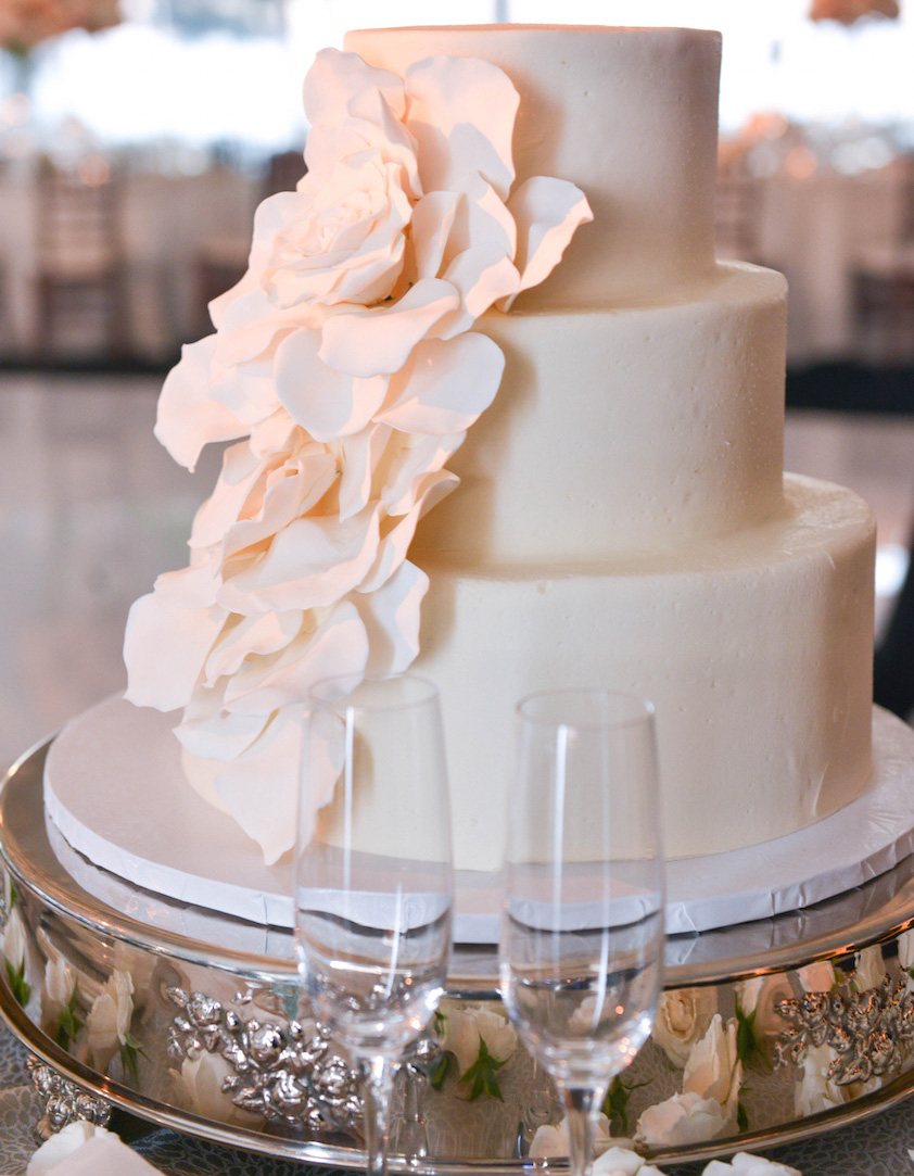 Simple White Small Wedding Cake