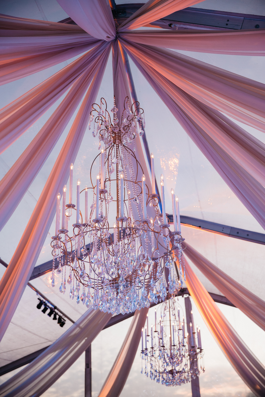 2016 Pantone Color of the Year Chandelier & Drape Ideas