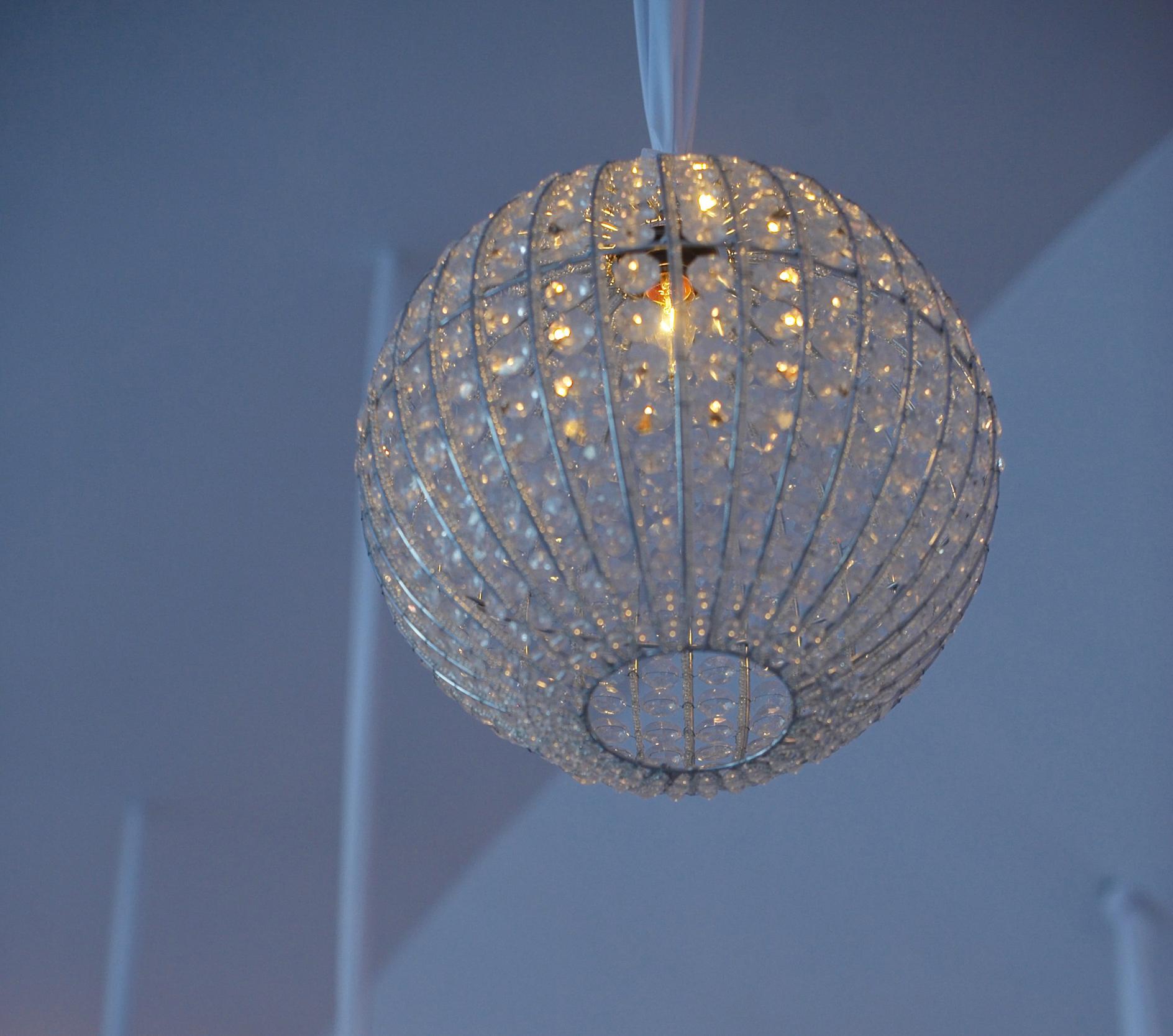 Lighting design 10 unique ways to light your reception inside crystal globe lighting fixture arubaitofo Choice Image