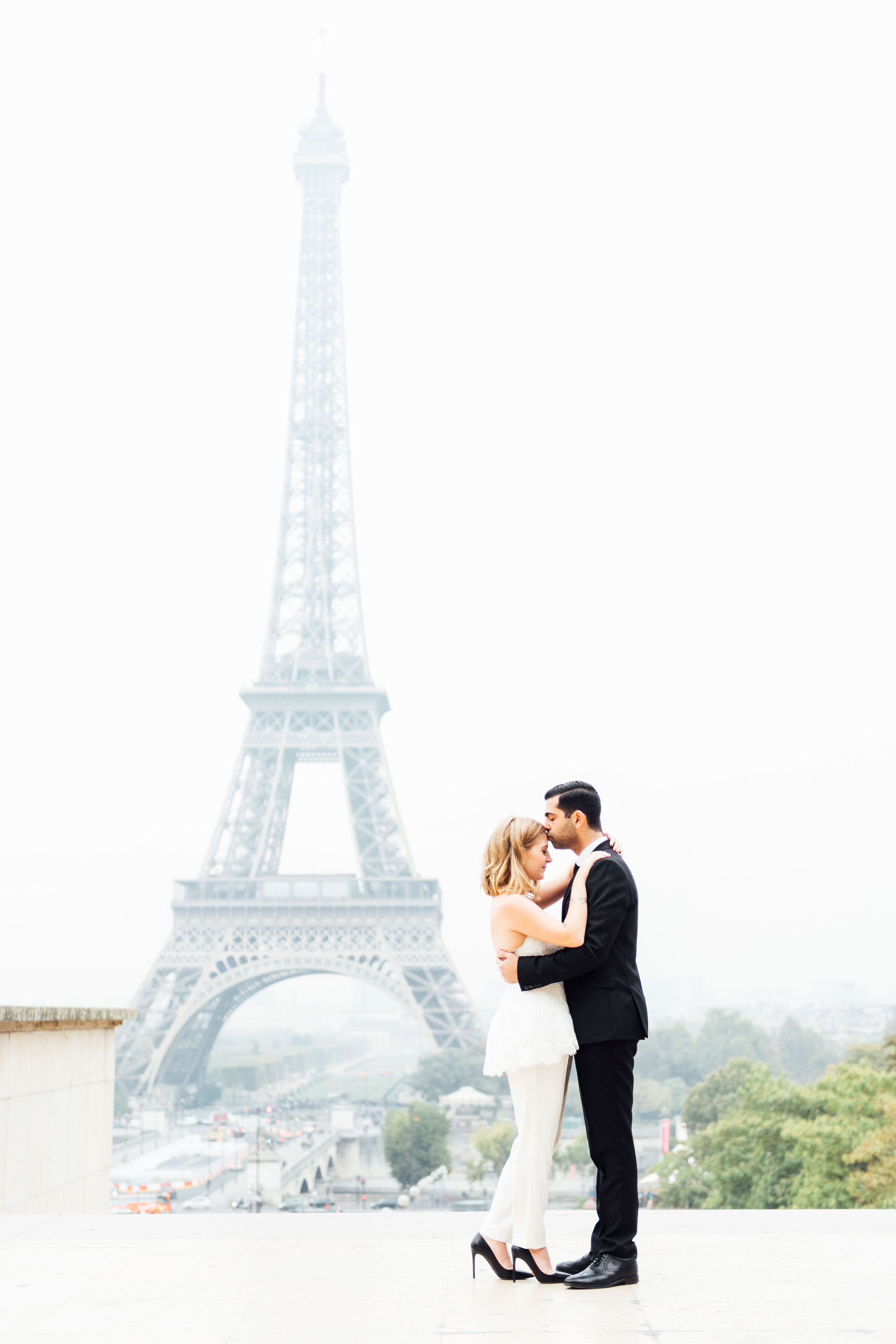 Sabrina Dahan engagement shoot Eiffel Tower