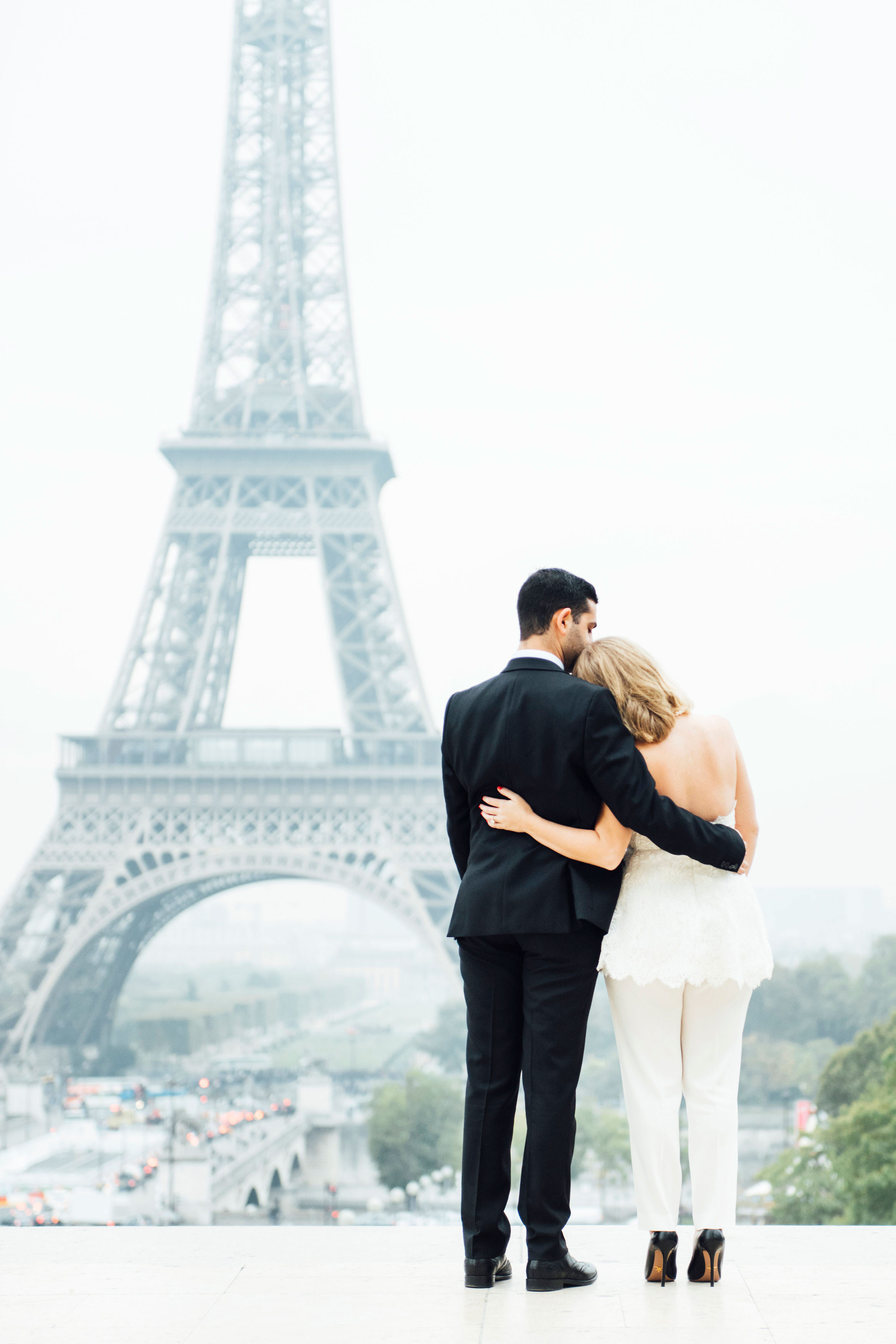 Sabrina Dahan romantic Paris engagement photos