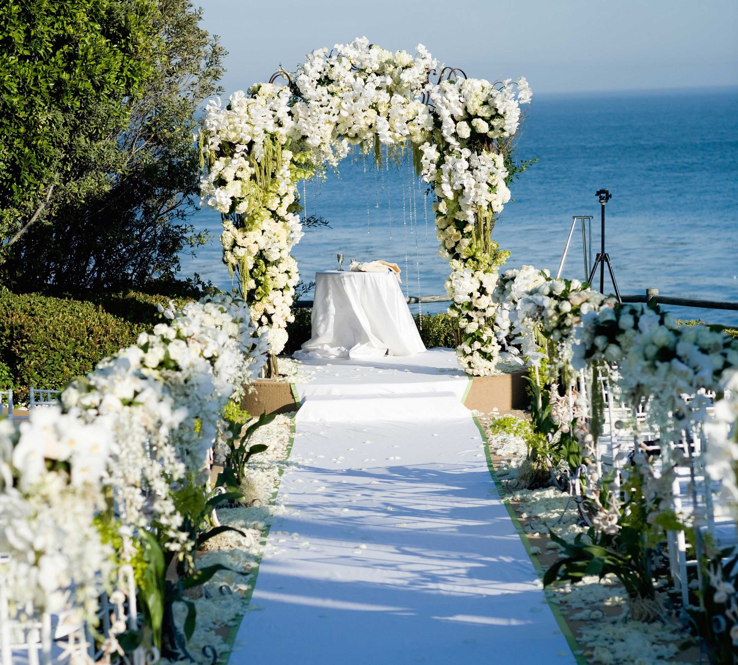 Beach Wedding Flower Ideas: Wedding Ceremony Ideas: Flower-Covered Wedding Arch