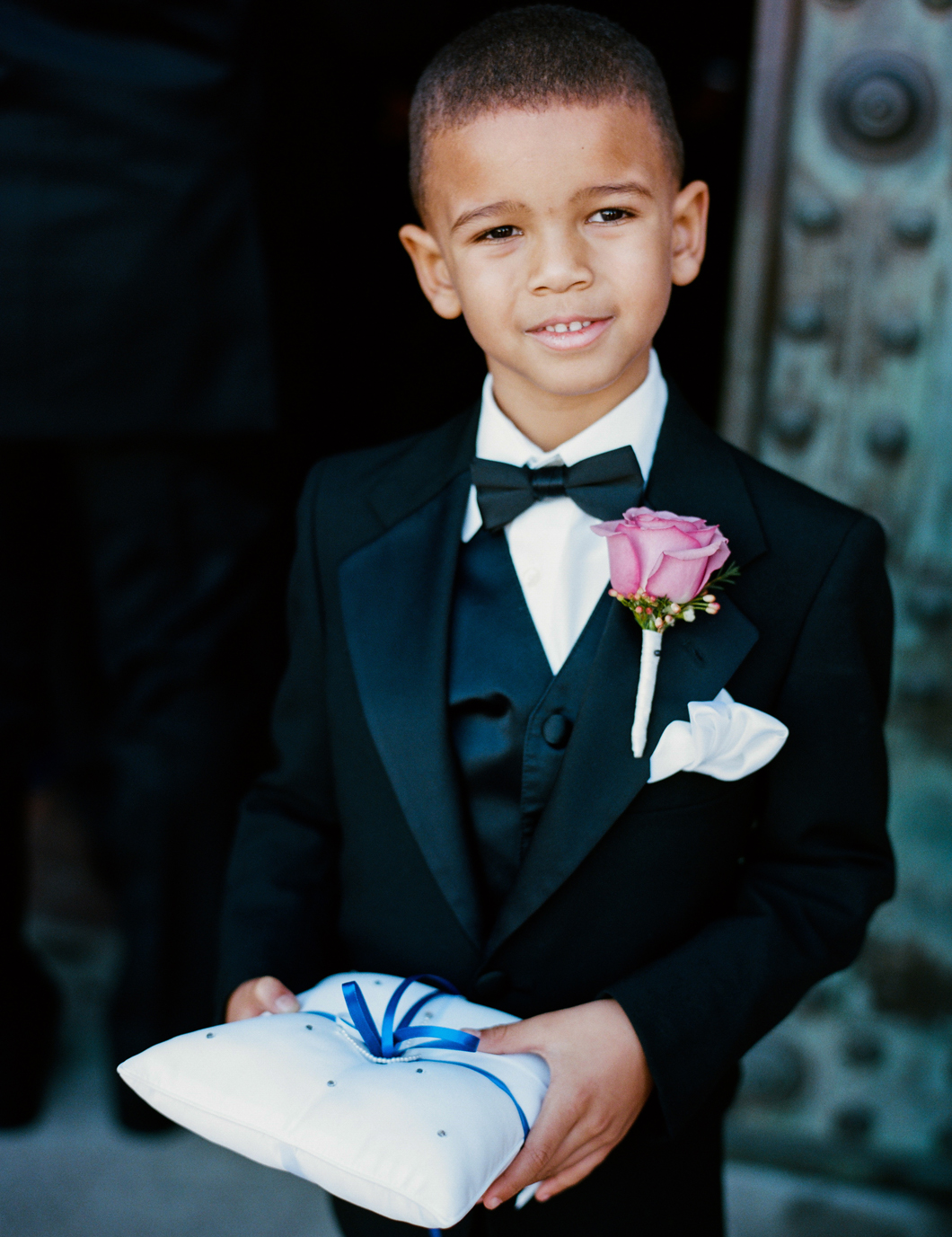 ring bearer tuxedo with rose