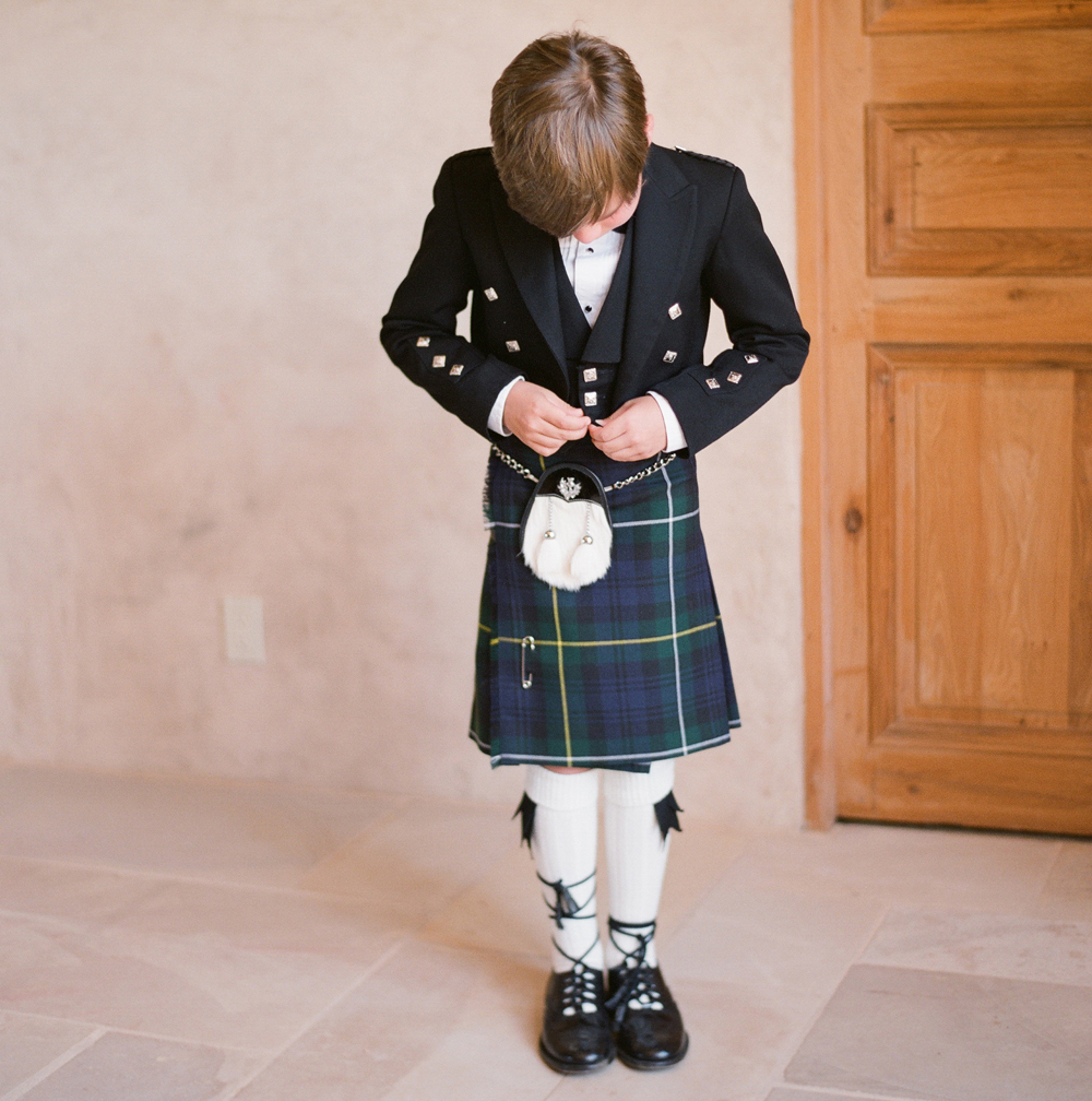 White Wedding Kilt: Ring Bearer Outfits That Are Anything But Ordinary