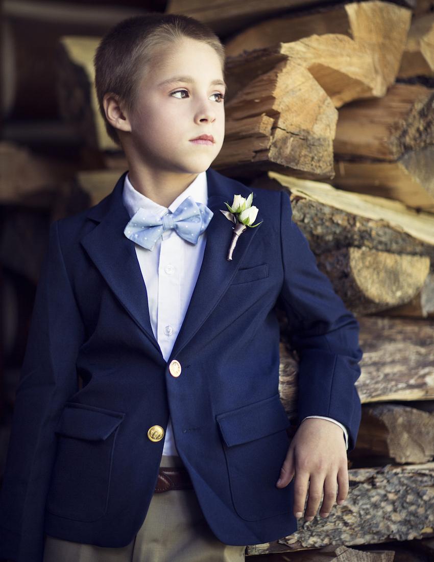 ring bearer blue jacket