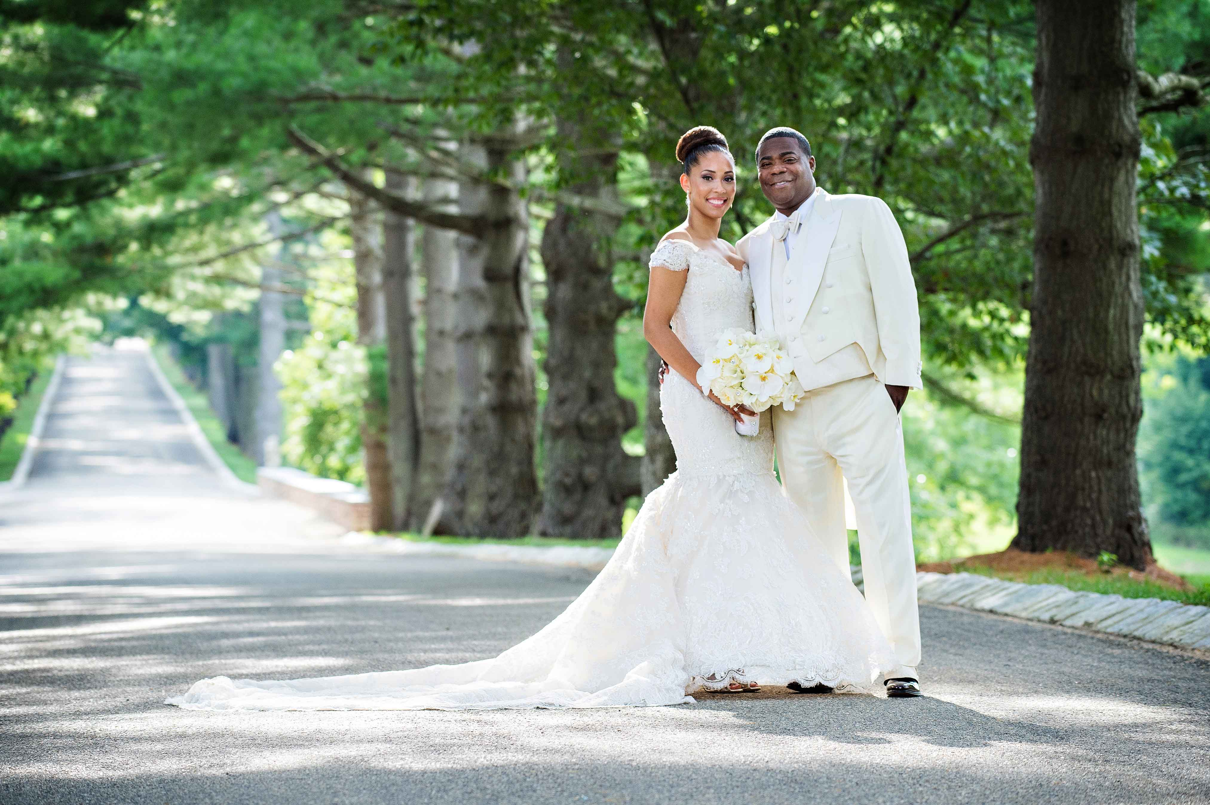 Tracy Morgan and Megan Wollover wedding photo