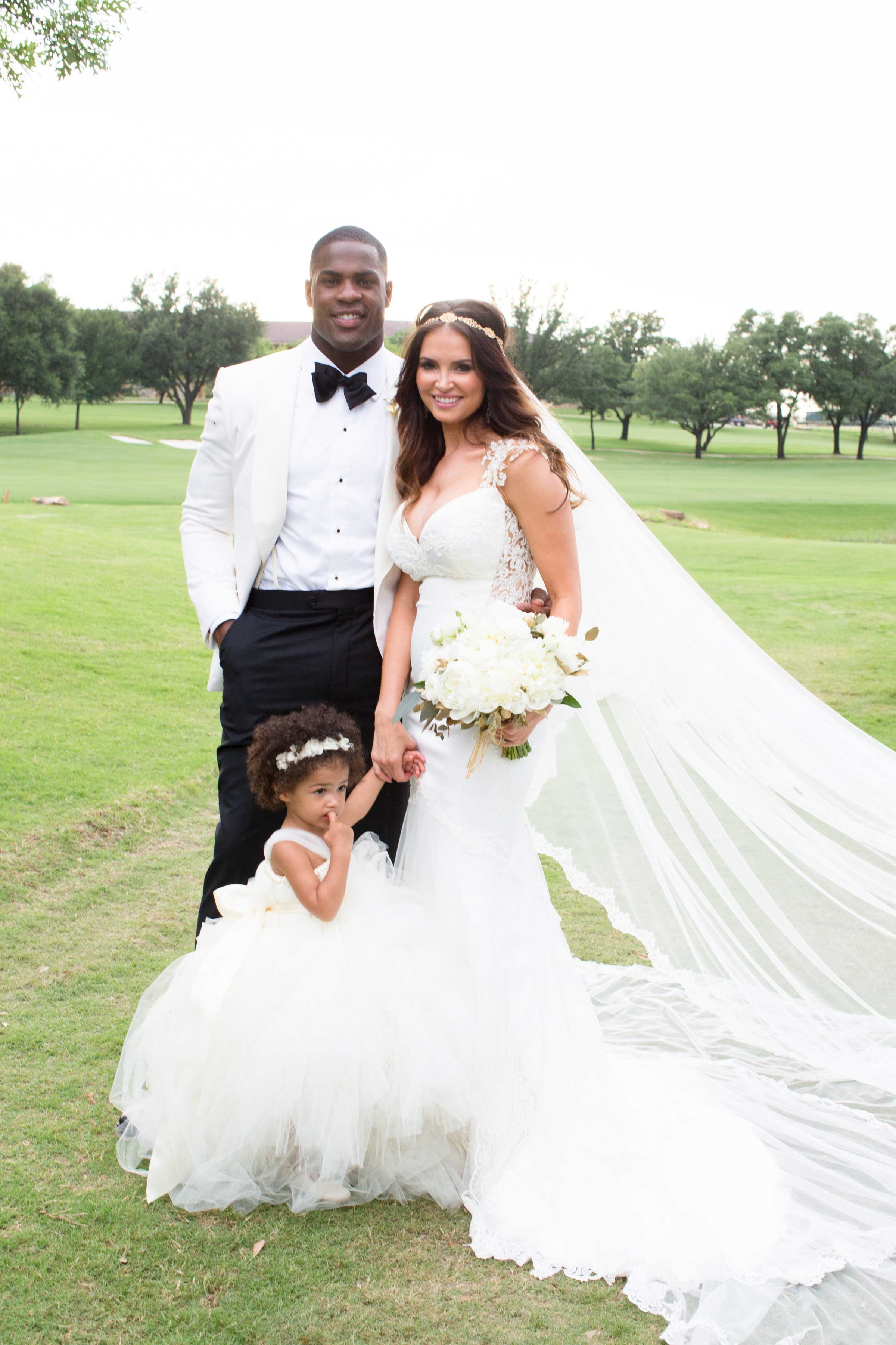 DeMarco Murray and Heidi Mueller wedding photo