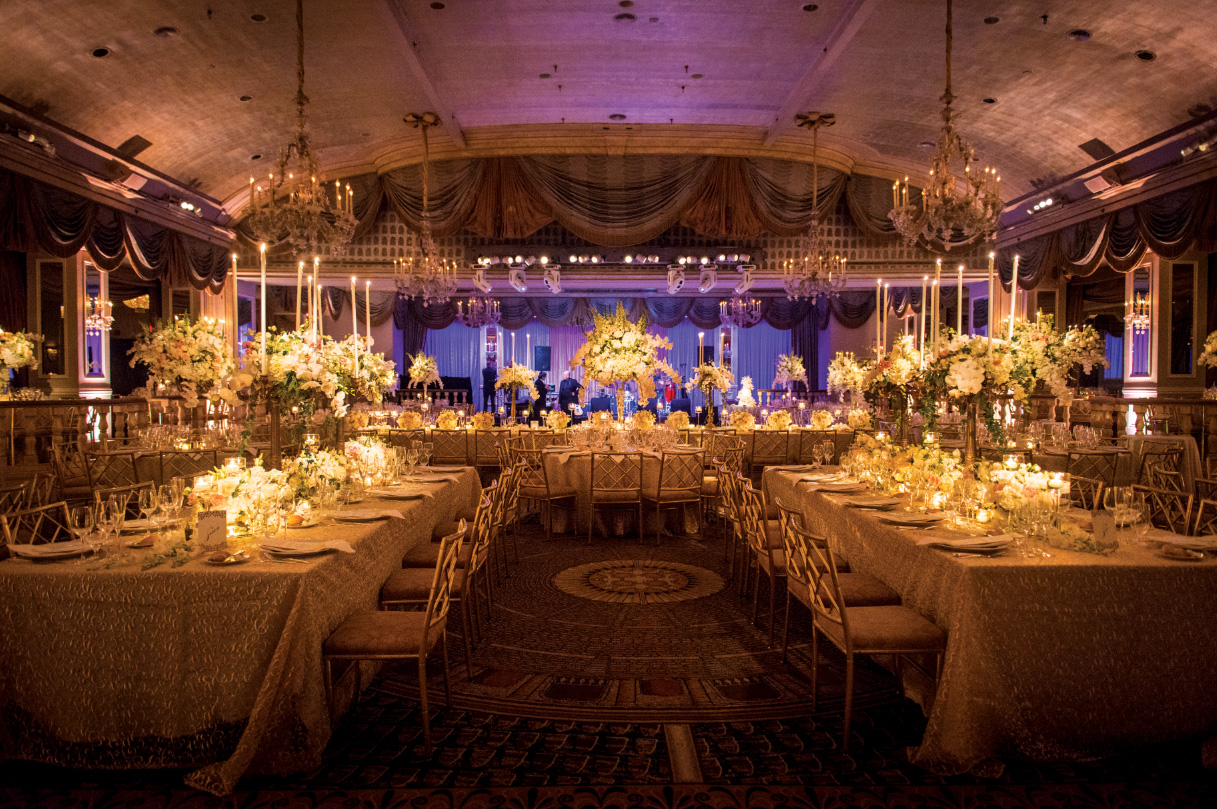 The Pierre wedding reception in New York