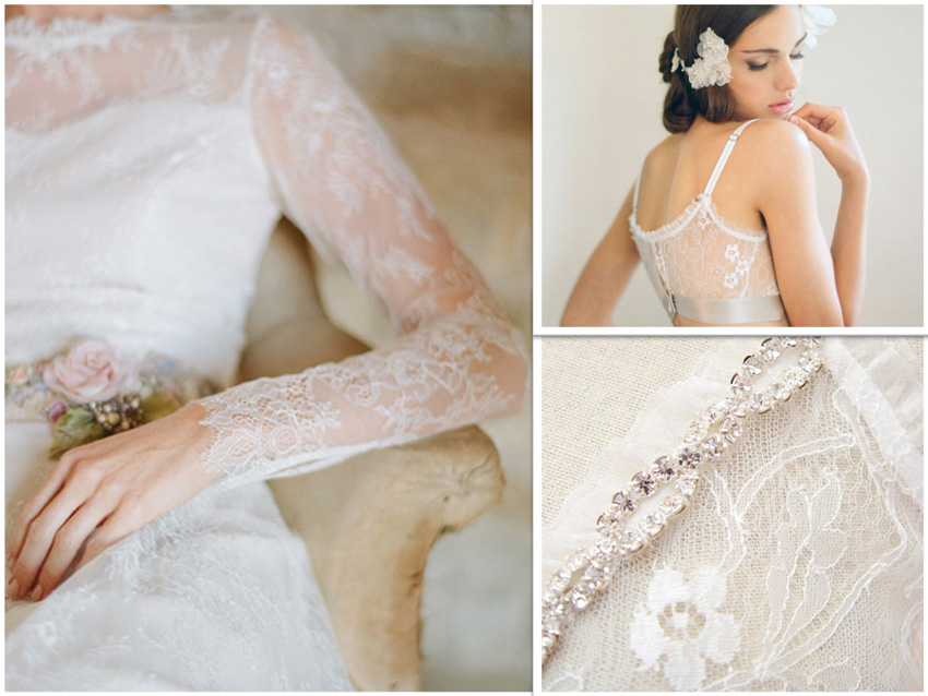 Chantilly lace examples courtesy of Claire Pettibone
