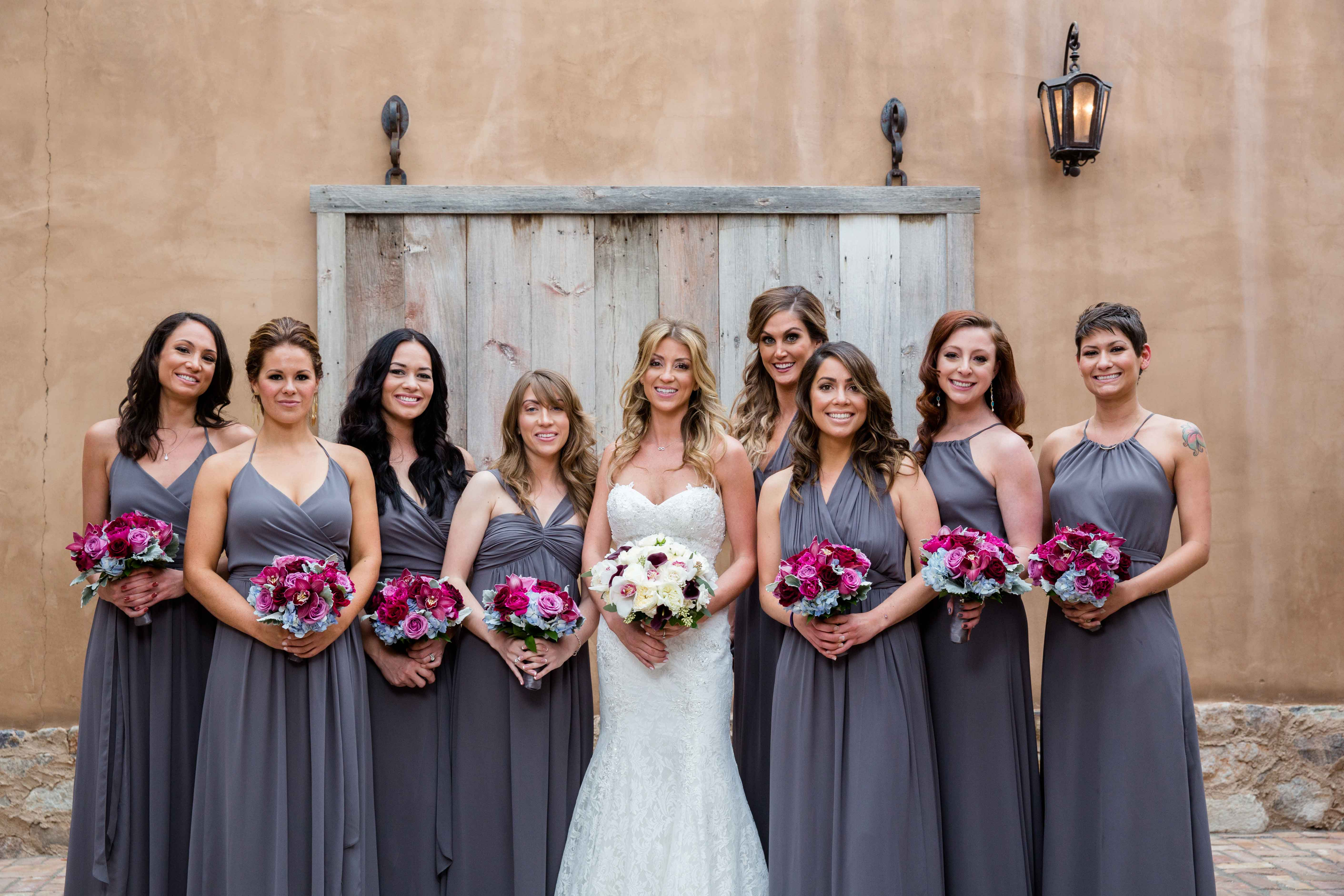 bridesmaids different dresses same color brock osweiler wife - Bridesmaid Dresses Same Color Different Style