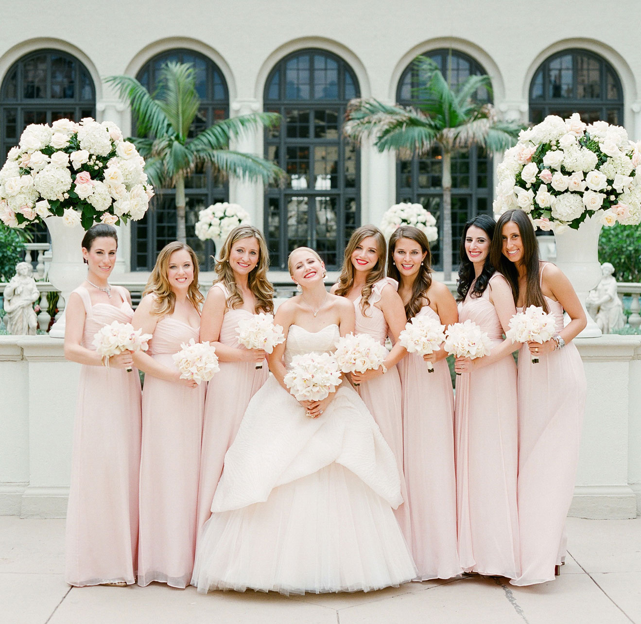 Mismatched bridesmaid dresses different dresses same color bridesmaids different dresses same color blush ombrellifo Choice Image
