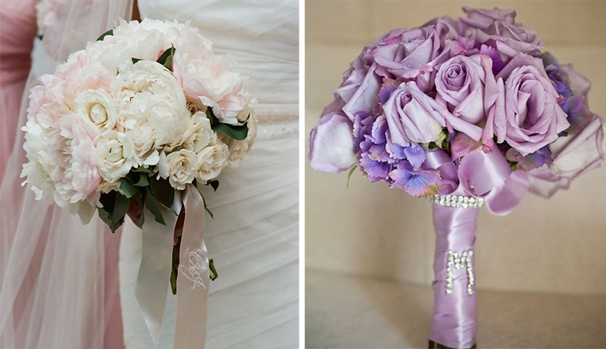 Wedding ideas beautiful ways to use ribbon in dcor inside weddings wedding bouquets with ribbon junglespirit Images