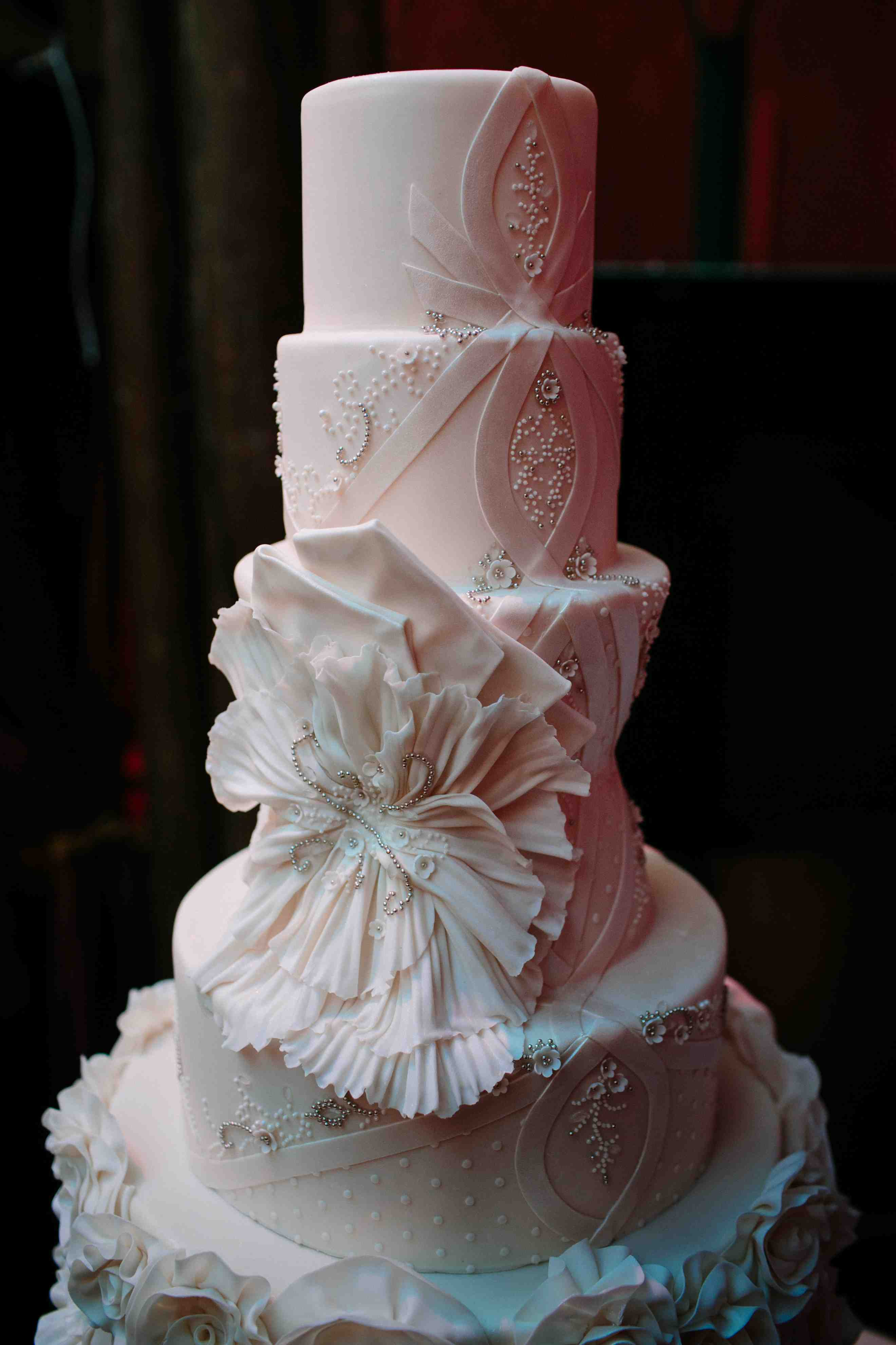 Wedding Cake Inspired By Matthew Christopher Dresses