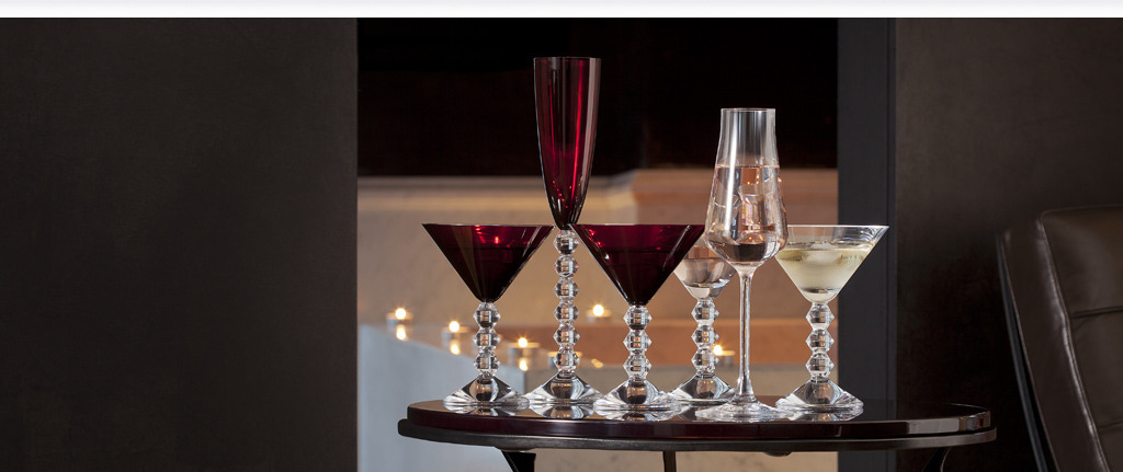 Red color wine glasses