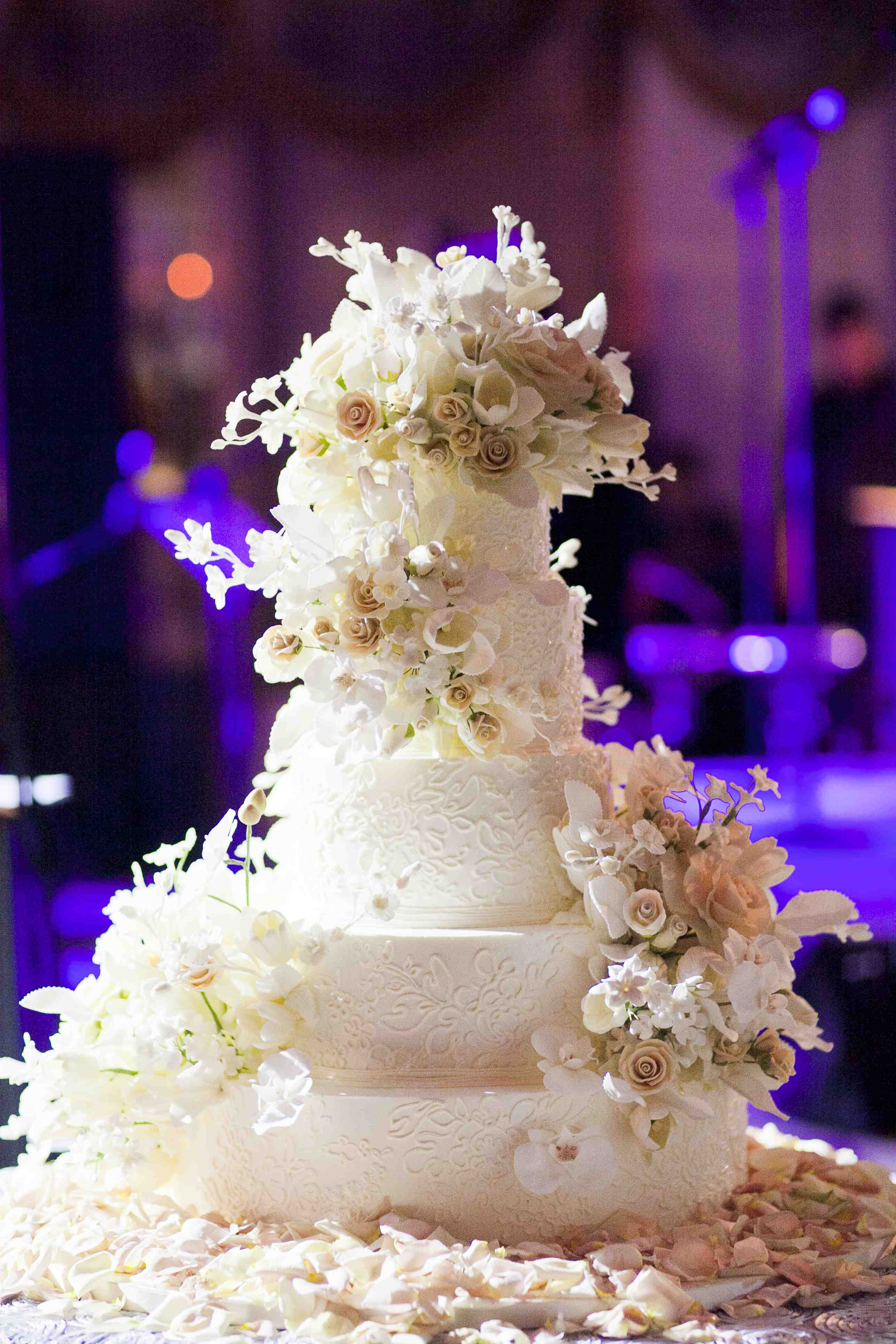 Wedding Cakes Pretty Wedding Confections with Lace Patterns