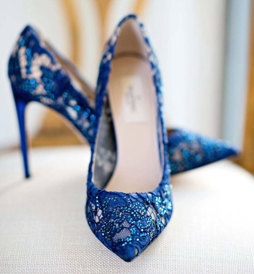 e95808446da75 Wedding Shoes: Something Blue Bridal Shoes - Inside Weddings