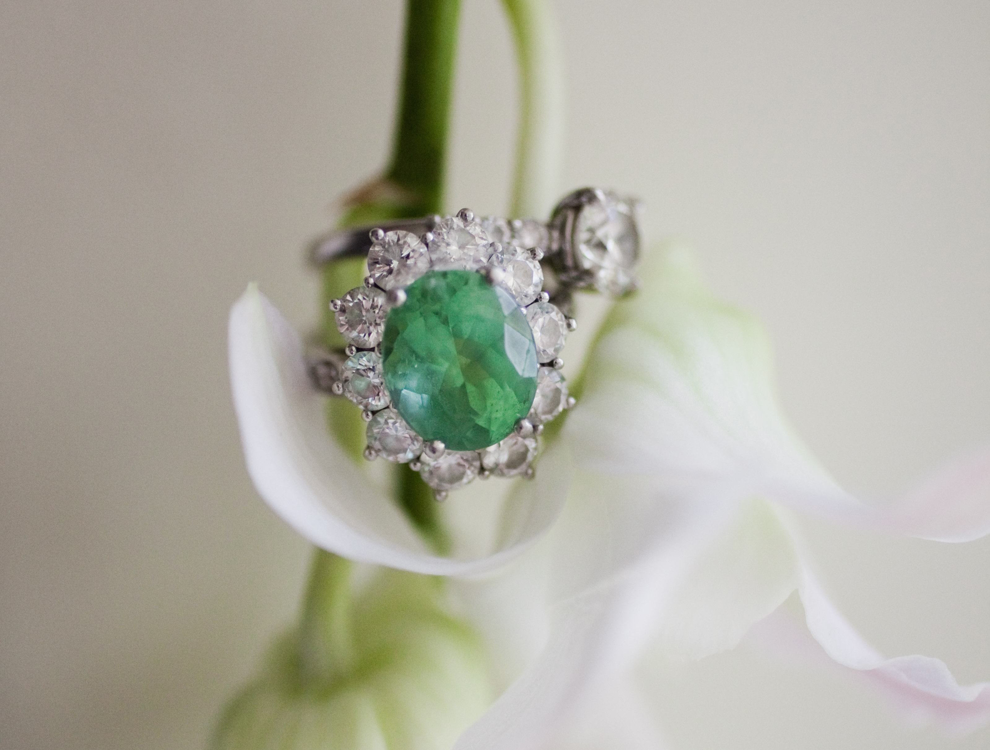 rings full ring green eternity emerald brilliant gemstone