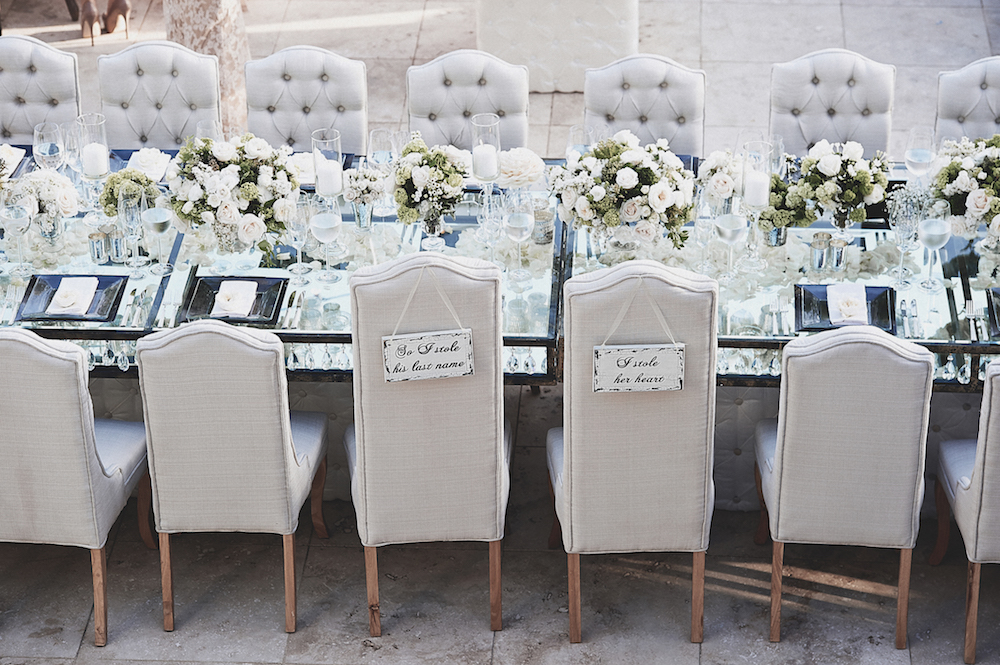 Brittney Palmer Wedding Reception Tufted Chairs