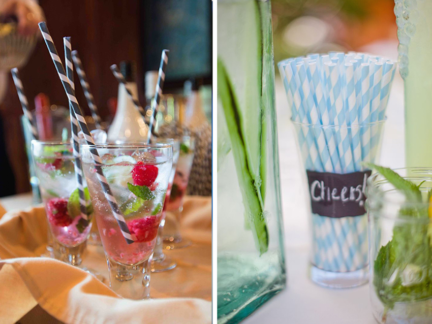 decorative straws for weddings wedding day cocktails 6 creative embellishment options 3463