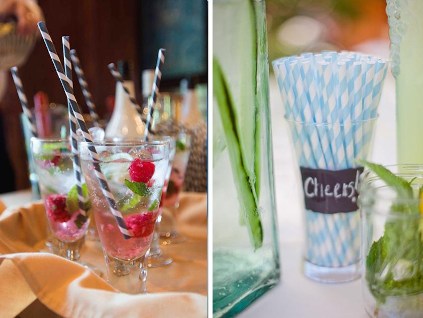 Decorative wedding cocktail straws