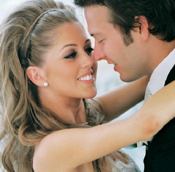 braided headband long hair braids braids bouffant wedding bride bridal