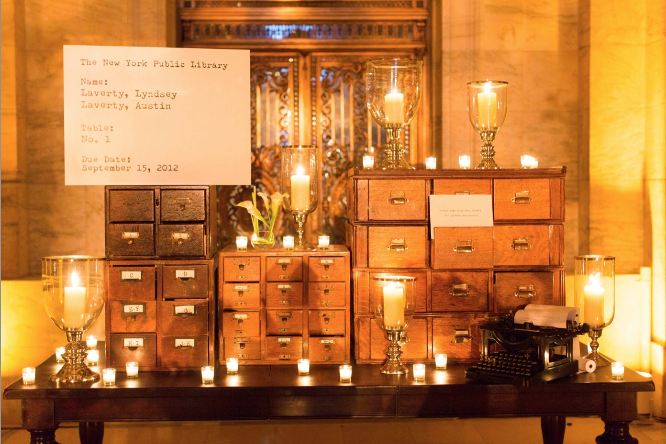 wedding candles escort cards candlelight candlelit