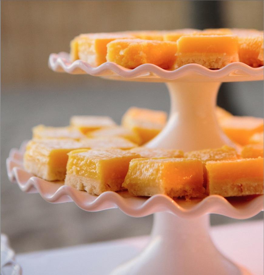 wedding lemon bars dessert
