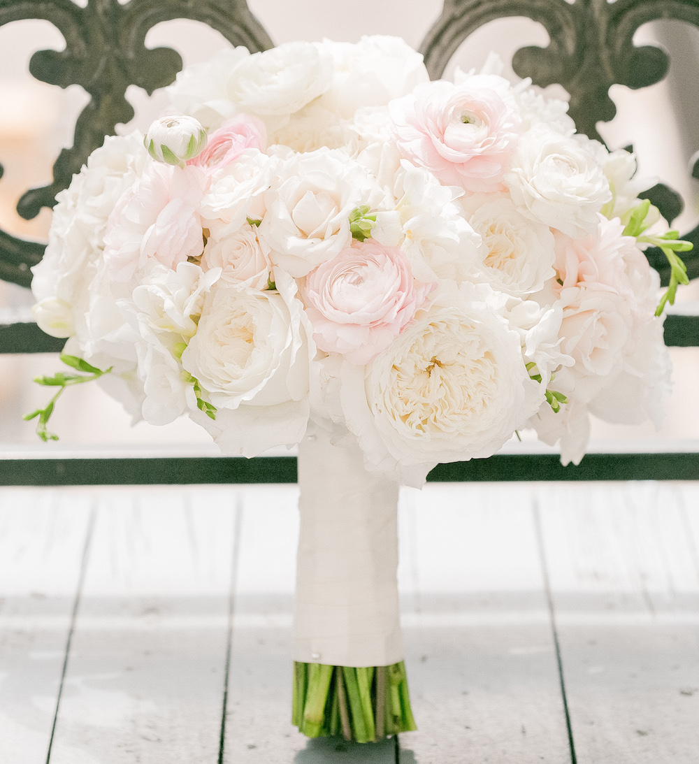 Wedding flowers stylish pink bridal bouquets inside weddings white and light pink ranunculus and rose bouquet izmirmasajfo