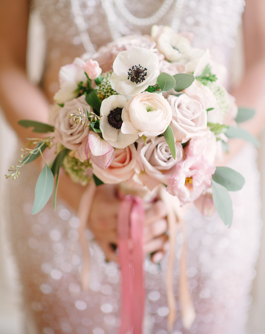 Wedding Flowers Stylish Pink Bridal Bouquets Inside Weddings