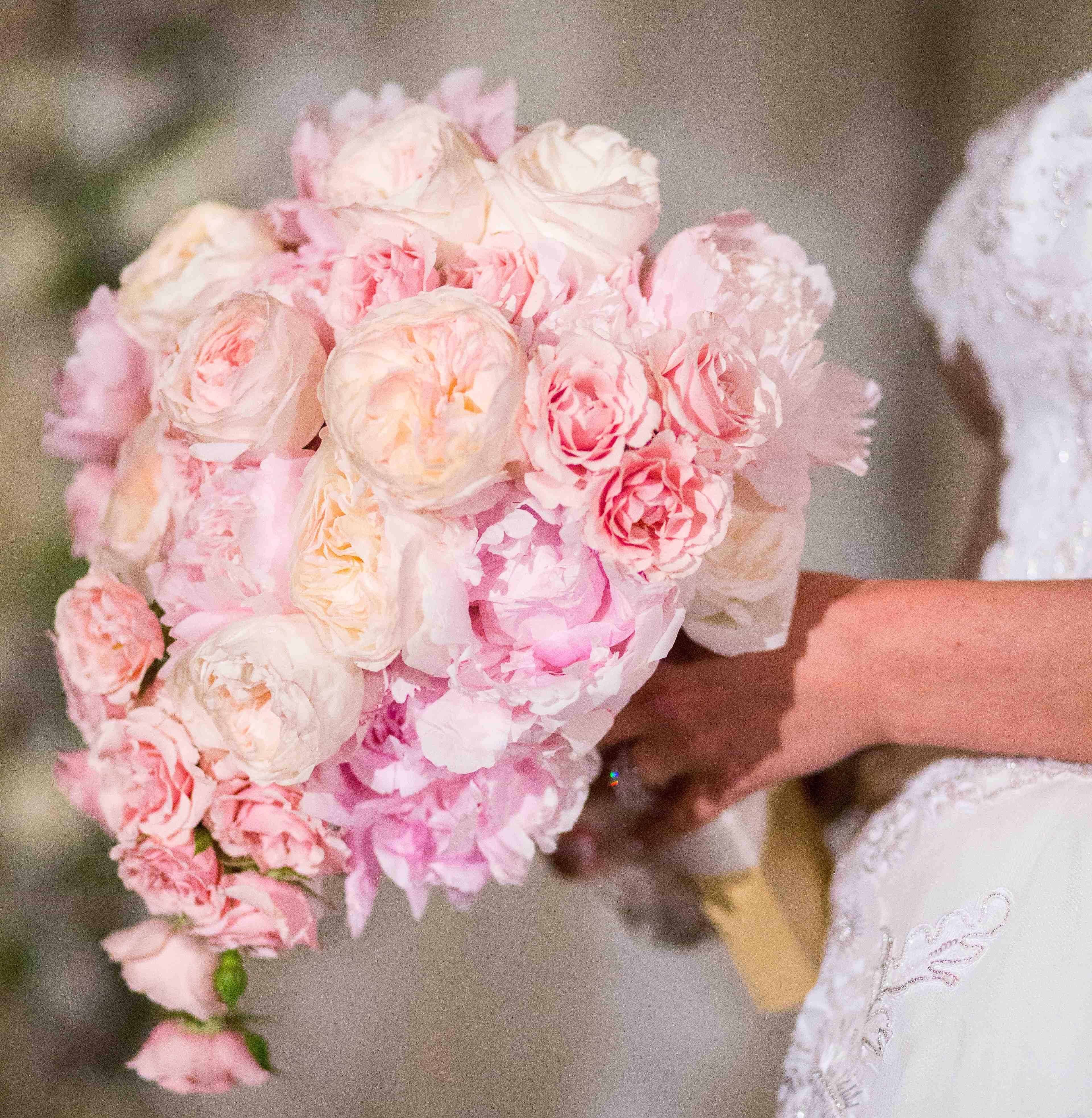 pink peony and garden rose bouquet - Garden Rose Bouquet