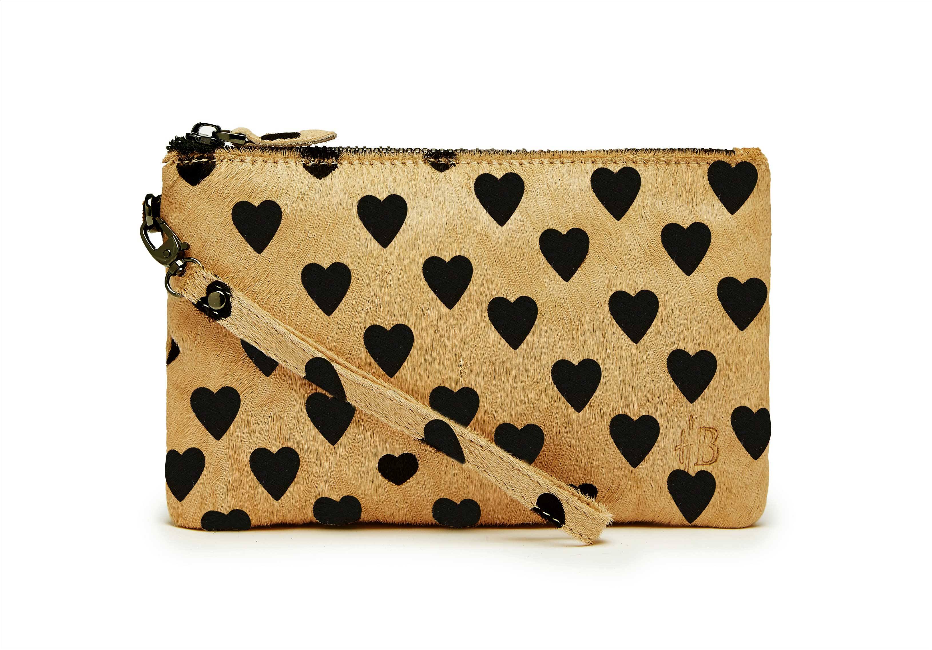 Mighty Purse Brown Heart Wristlet