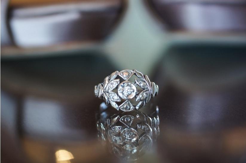 edwardian influenced vintage inspired Tiffany & Co. engagement ring