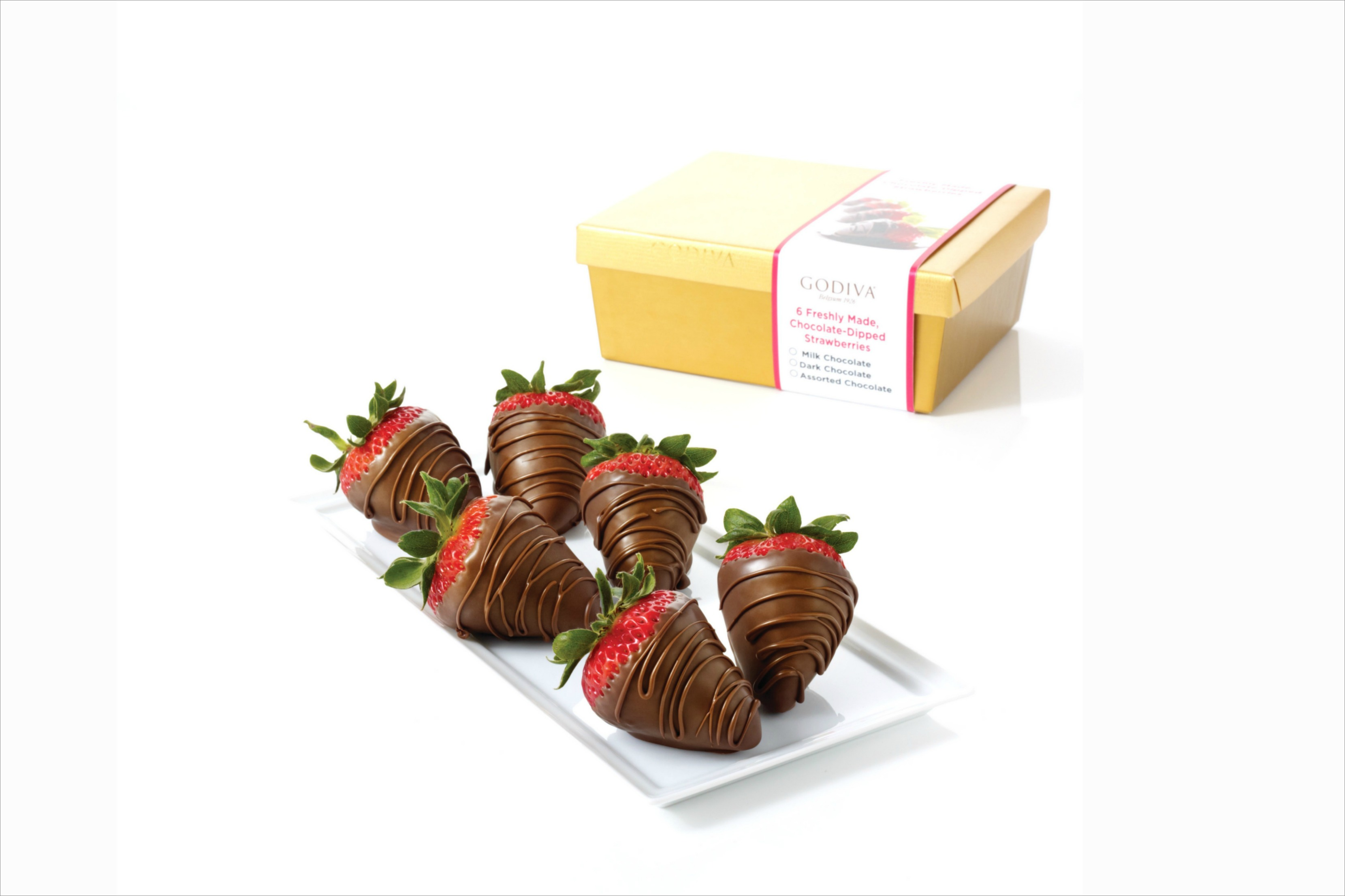 Godiva Valentine's Day chocolate covered strawberries