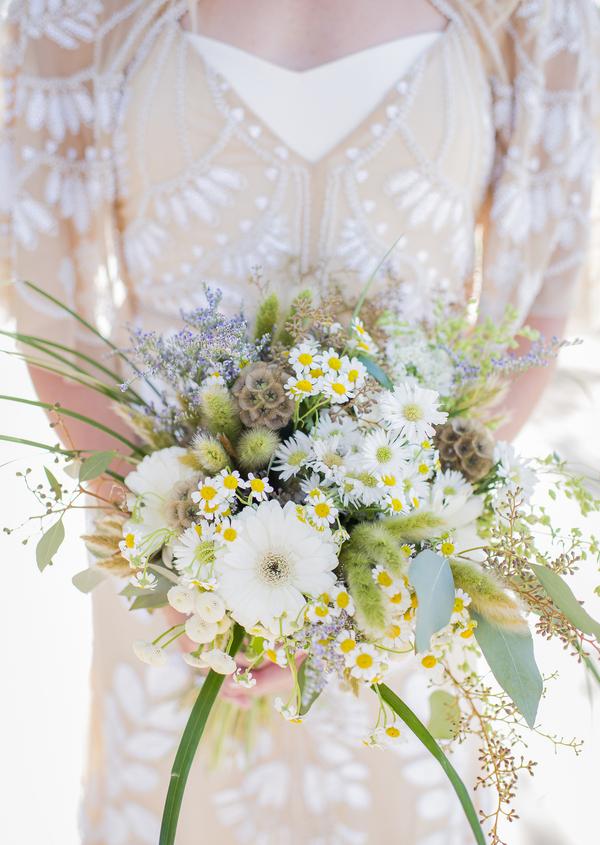 wildflower bouquet, bohemian wedding