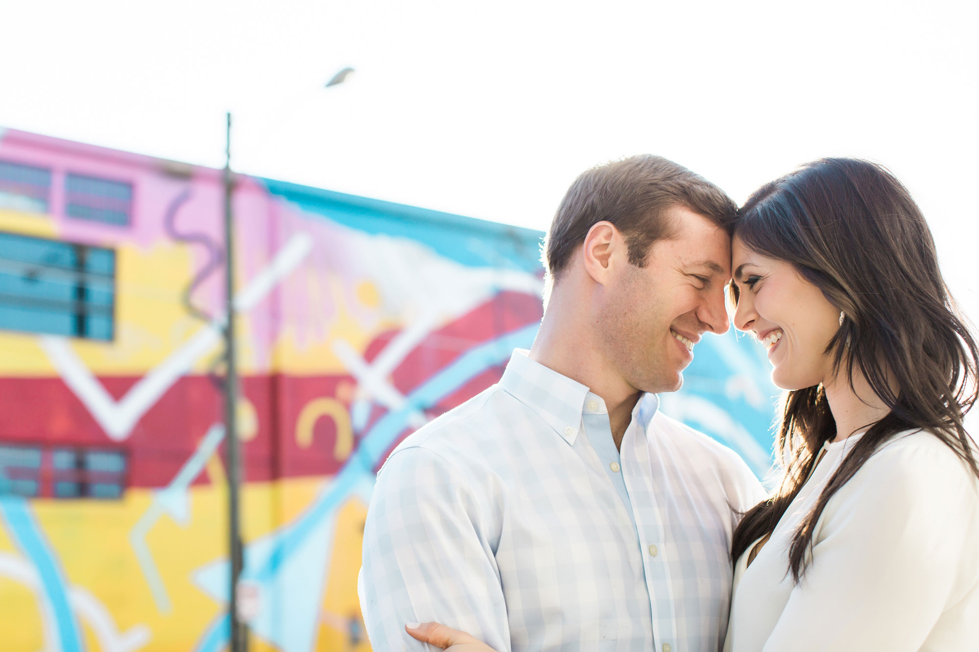 Graffiti wall engagement shoot location Vue Photography engagement session