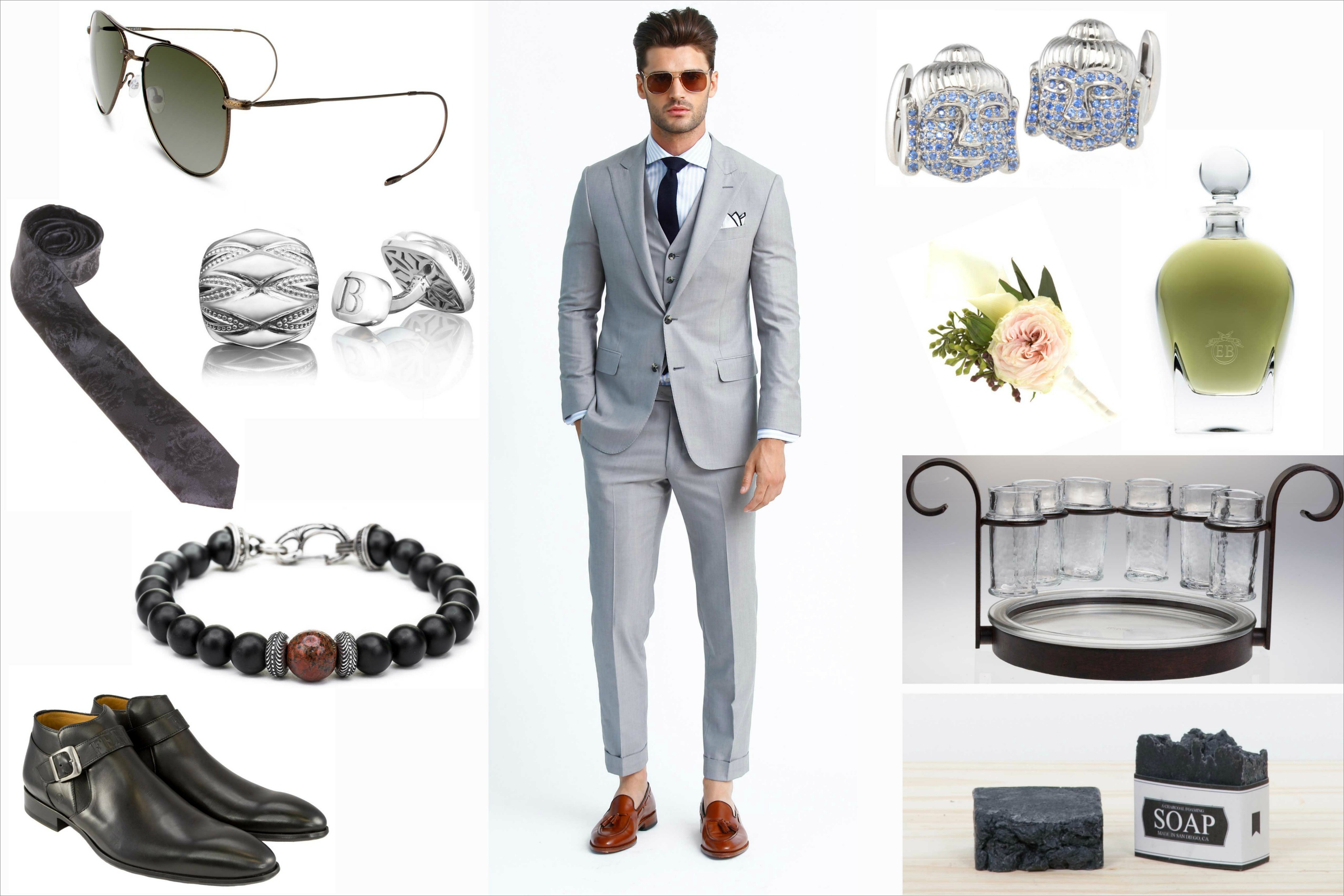 Justin Theroux wedding look ideas and inspiration