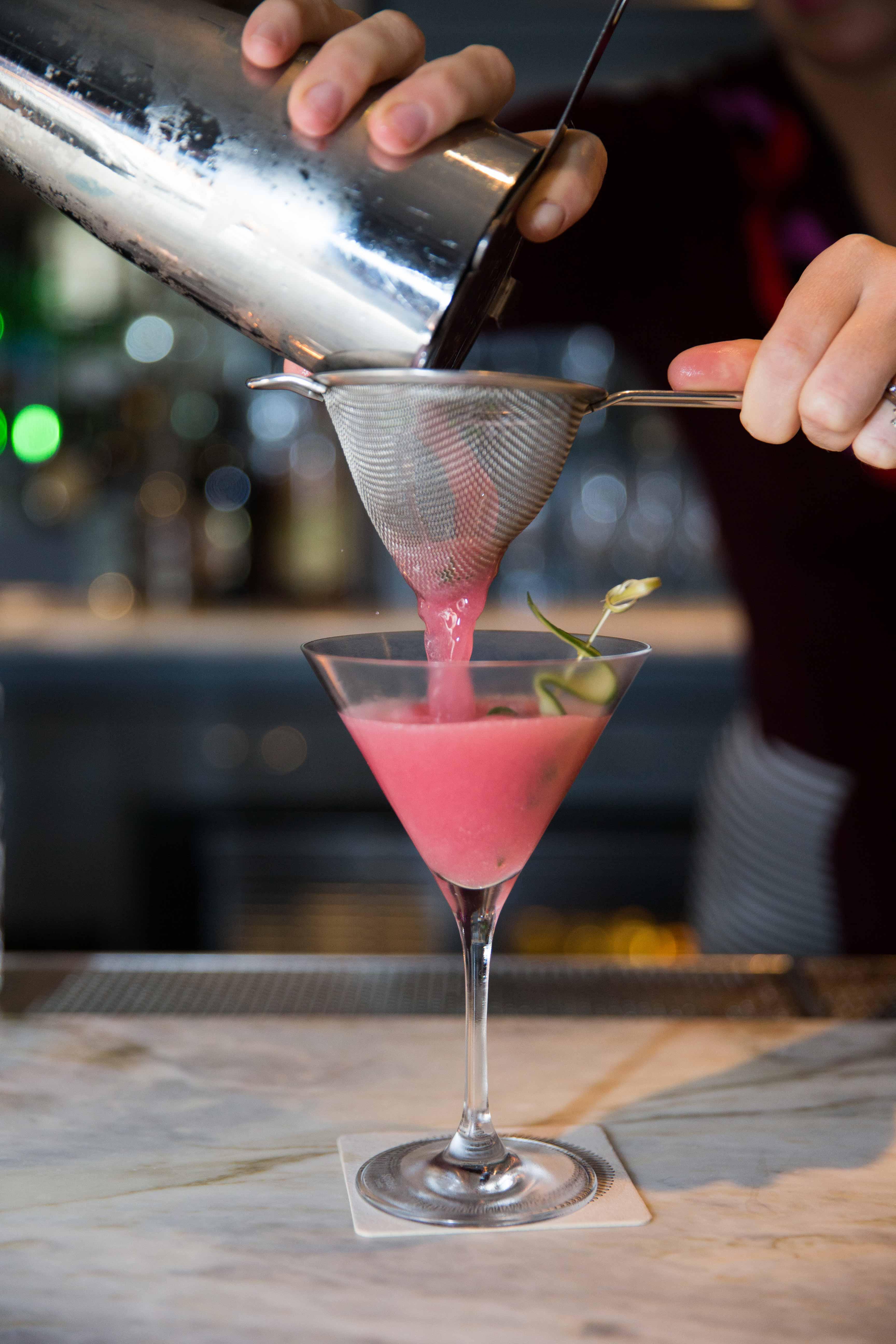 Hojoko Verb Hotel cocktail mocktail at wedding reception cocktail hour