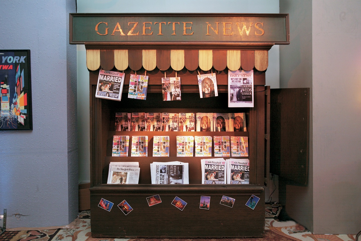Newspaper Stand Designs : Wedding ideas fun décor for your after party