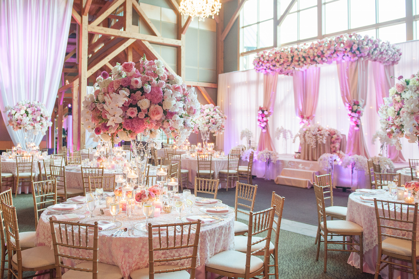 Romantic dcor options for your wedding sweetheart table inside sweetheart table on stage in canopy at wedding junglespirit Choice Image