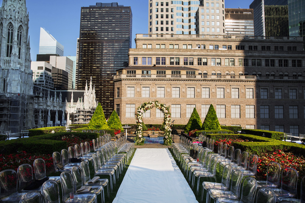 How to tastefully combine multiple wedding styles inside for Outdoor wedding new york