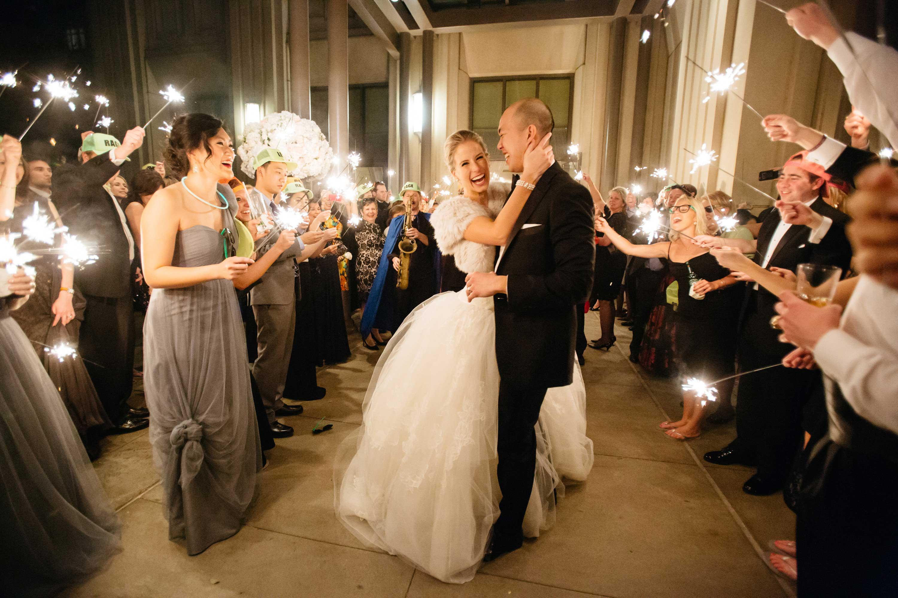 Ideas for Guests to do During Your Wedding Grand Exit Inside