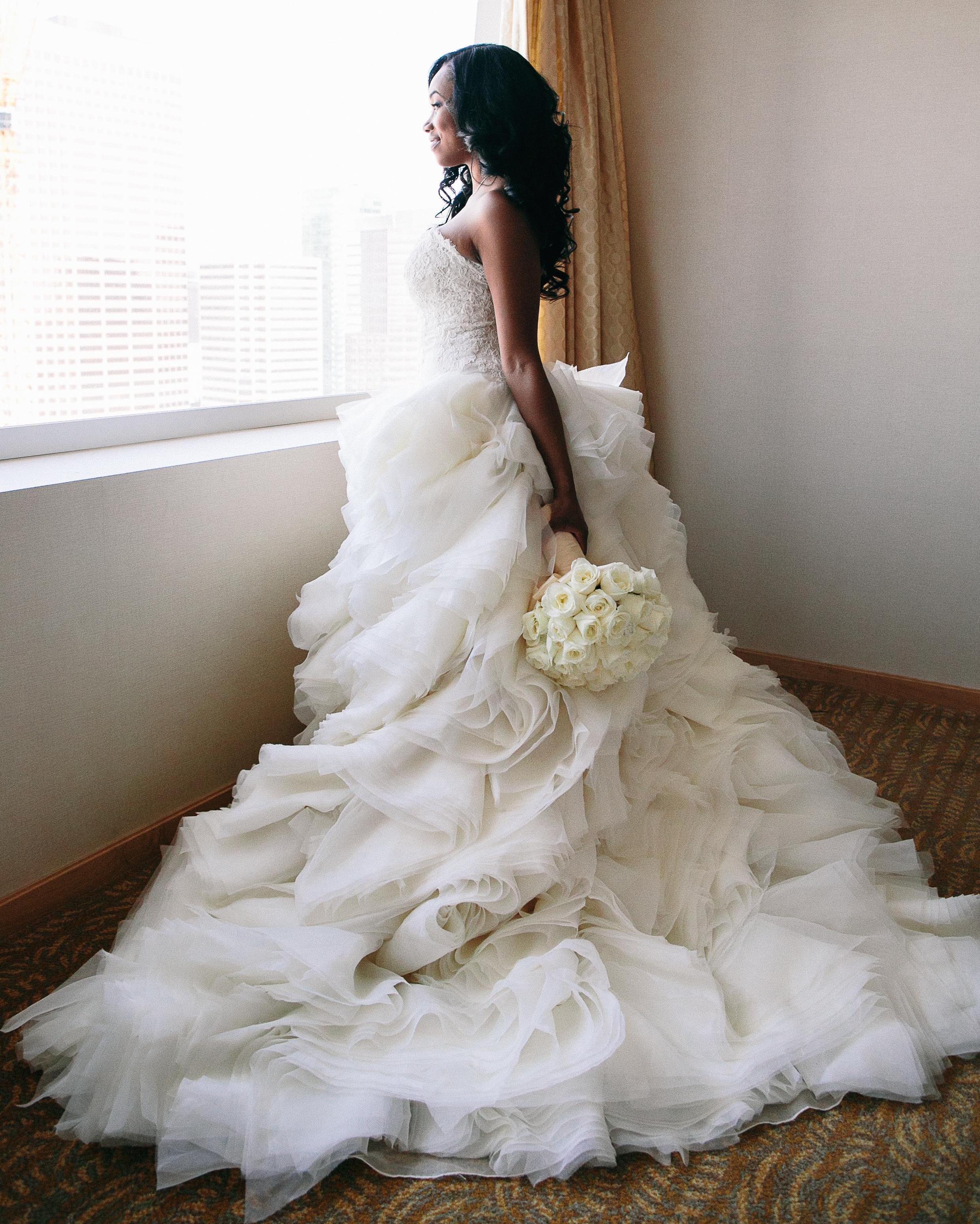 Seattle Seahawks Brandon Mebane wife in wedding dress