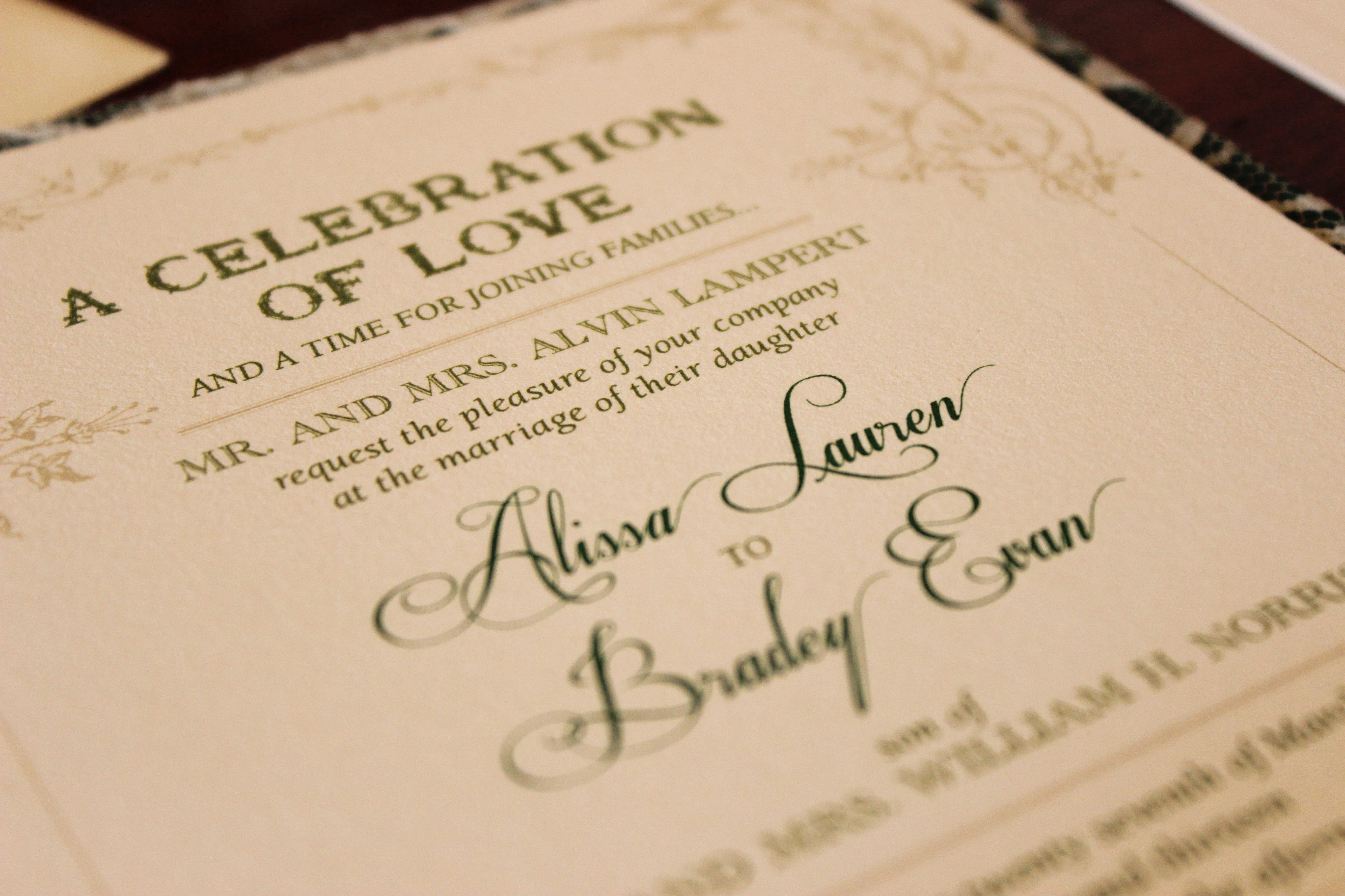 Wedding Invitation Etiquette: Special Wording Circumstances - Inside ...