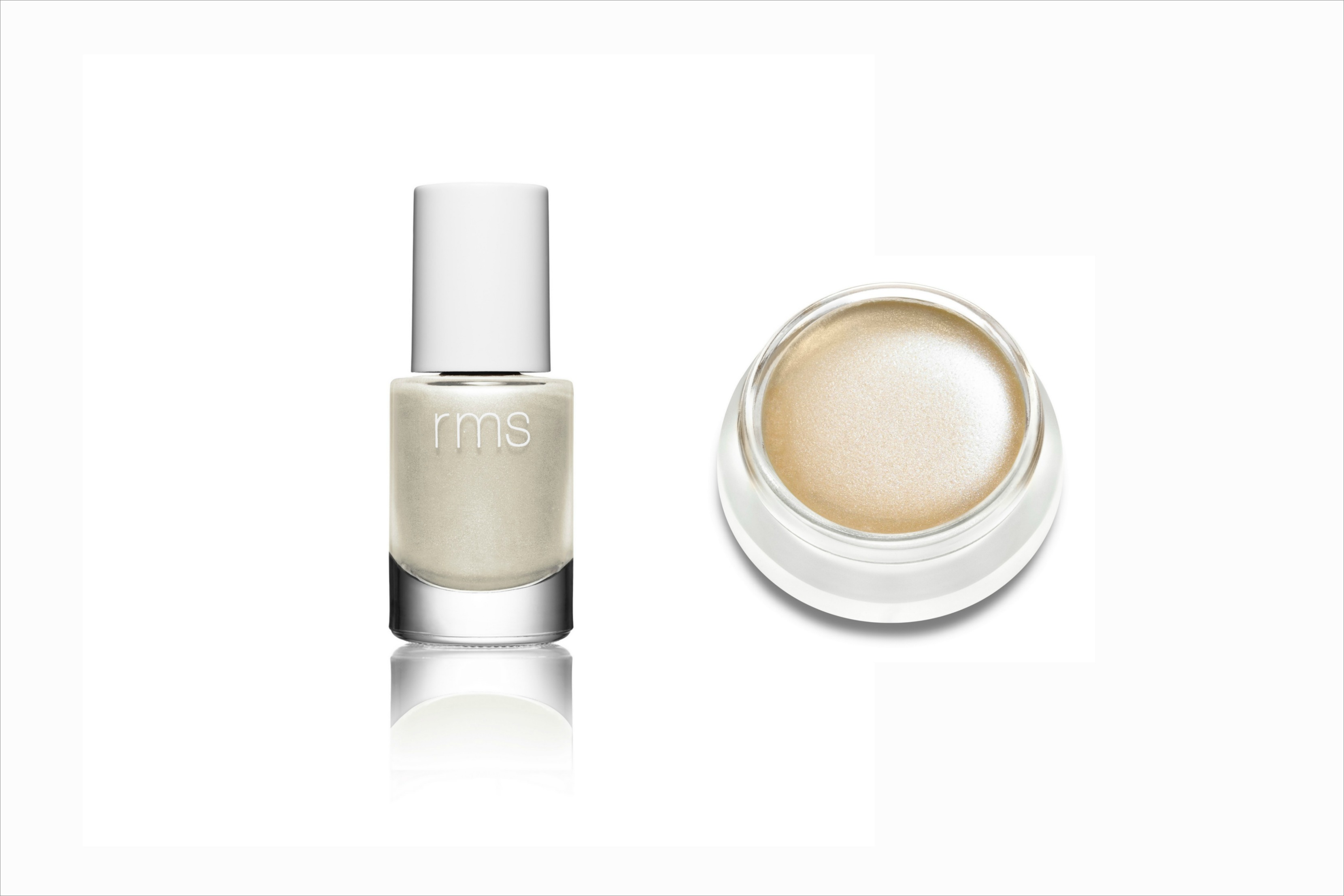 RMS Beauty Living Luminizer and Nail Polish in Luminzer