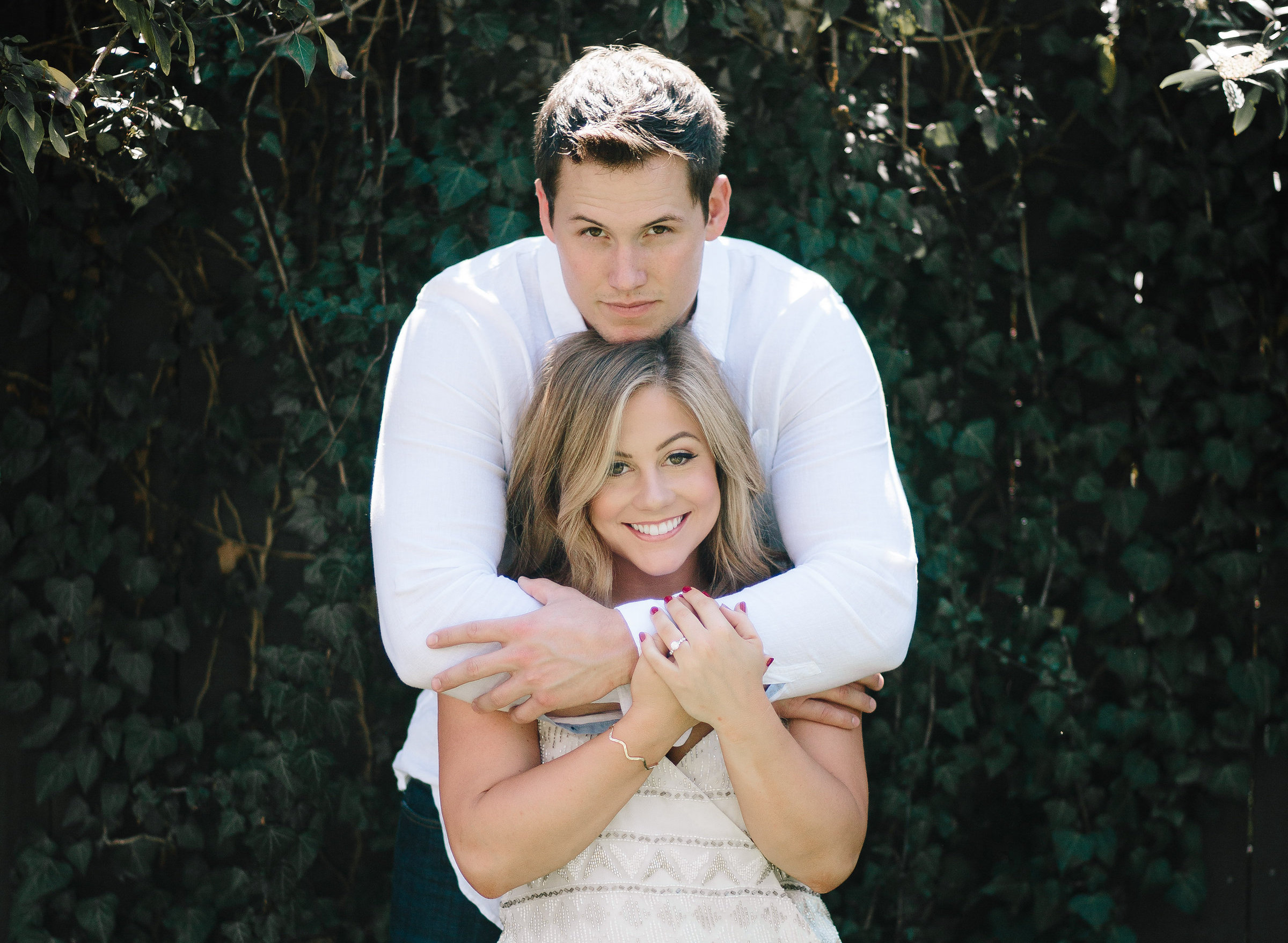 Shawn Johnson and Andrew East engagement photo